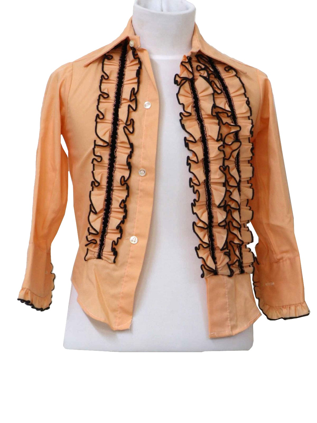 exquisite design cute cheap lower price with 1970's Palm Beach Mens/Childs Ruffled Tuxedo Shirt