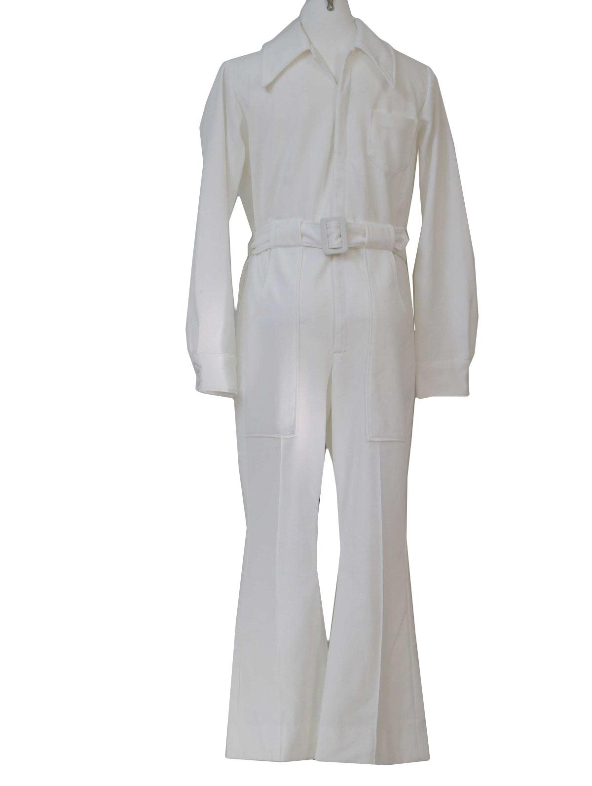 9ca6c5cc686 Retro 70s Suit (LeVoys)   70s -LeVoys- Mens solid white double knit ...