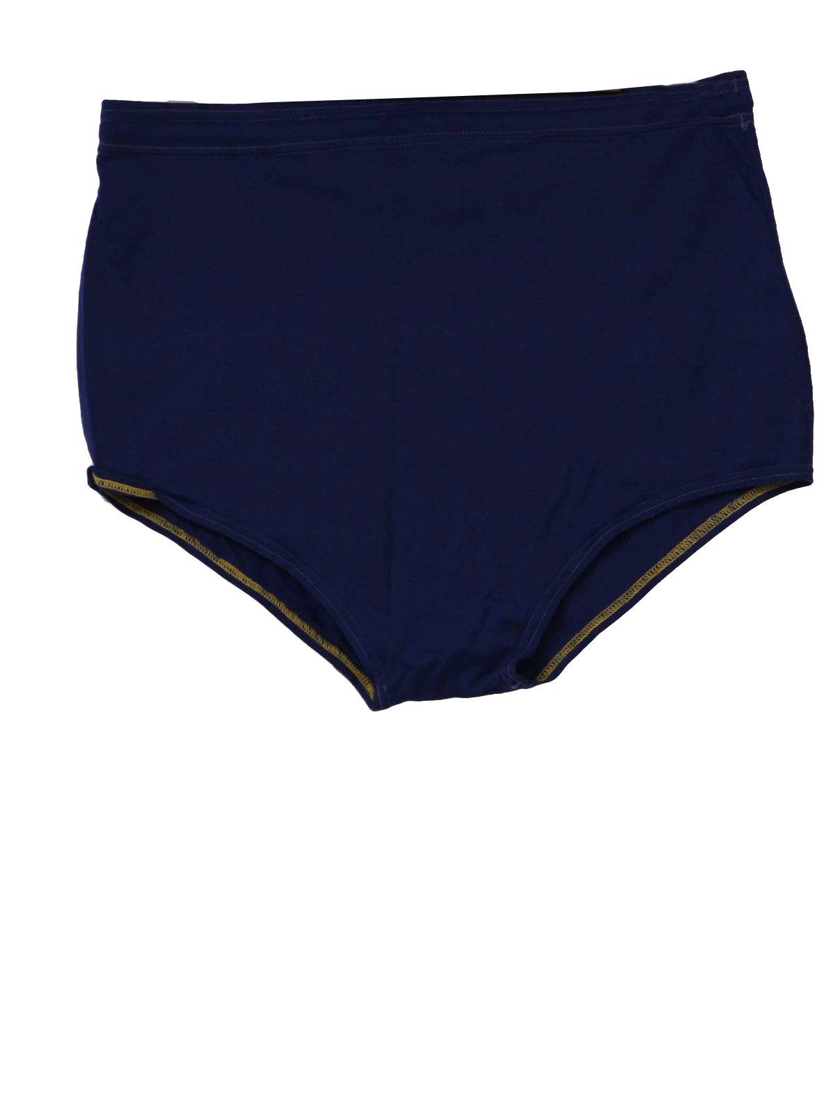 Retro 1960's Swimsuit/Swimwear (Dolphin) : 60s -Dolphin- Mens blue ...