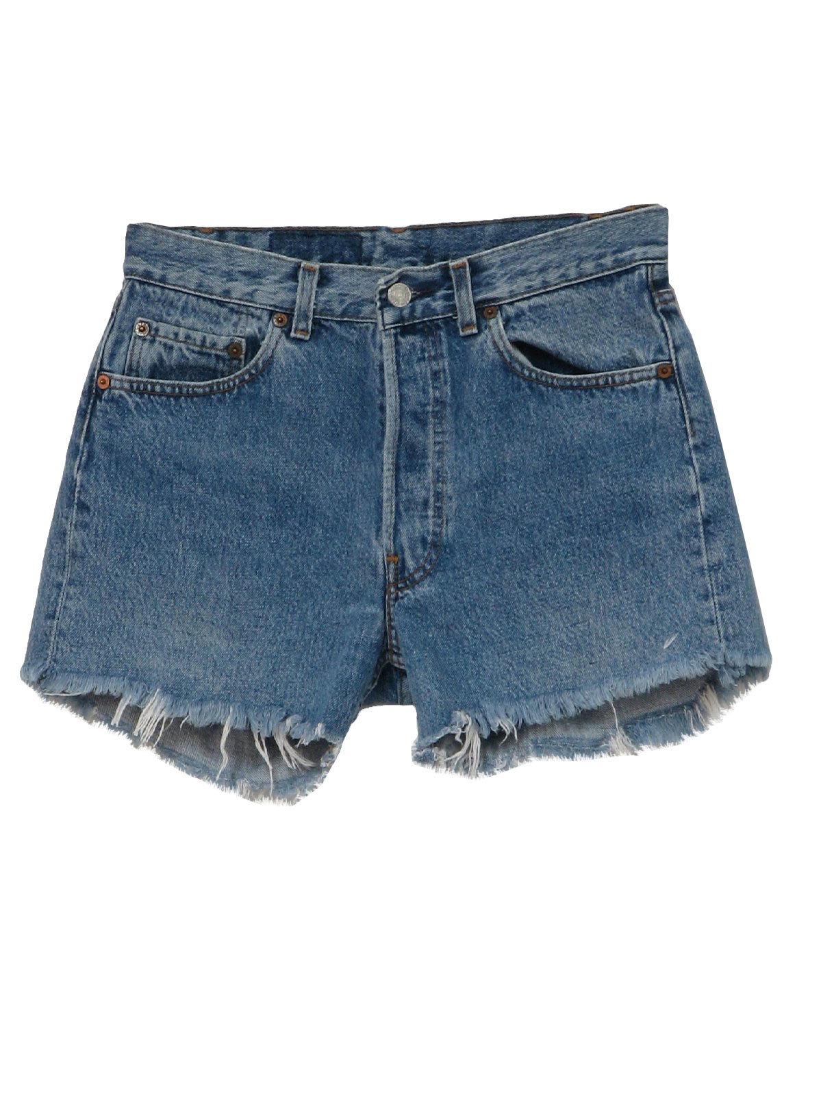 Men In Cutoff Jean Shorts