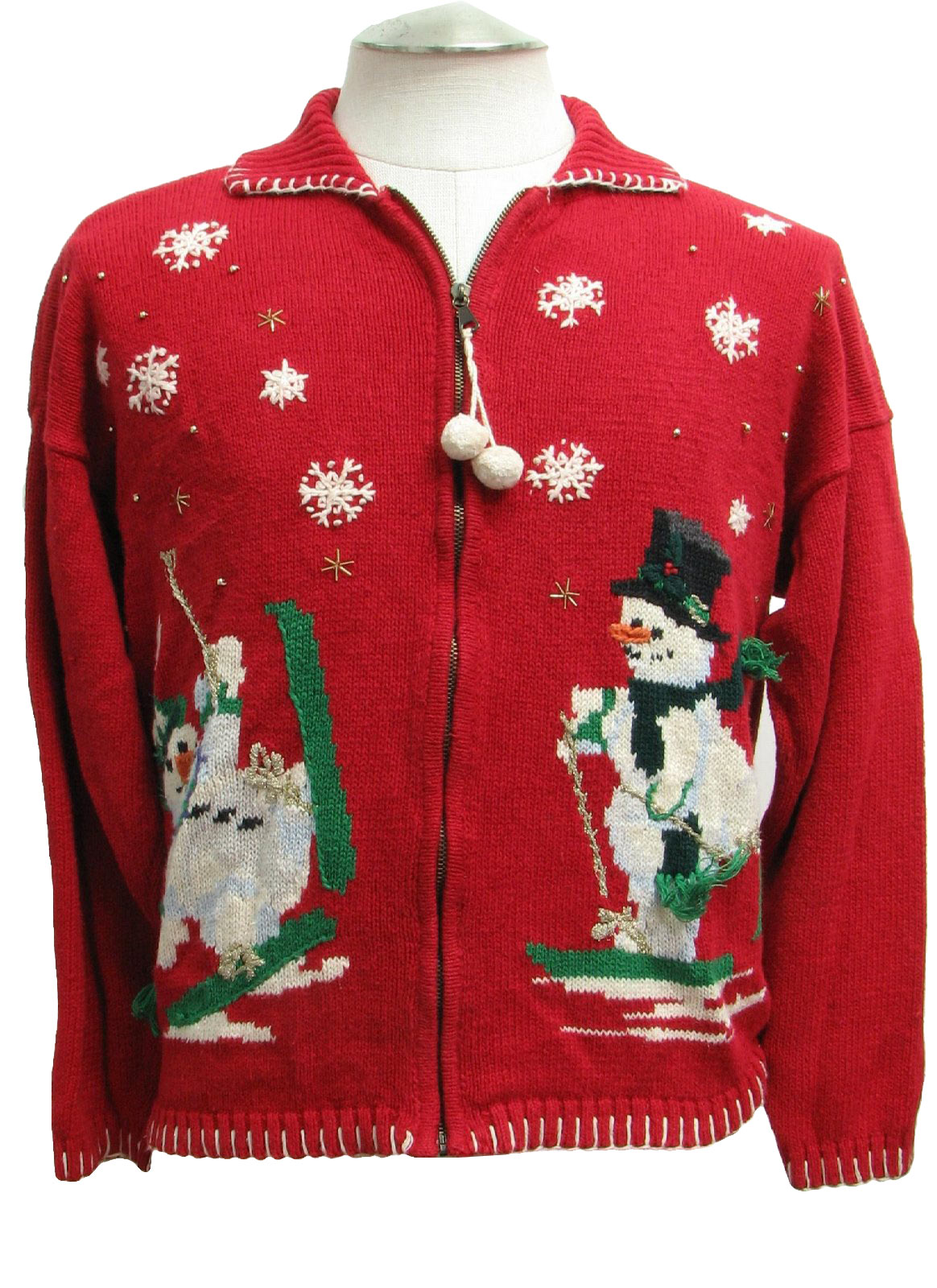 Ugly christmas sweater carly st claire unisex red for Over the top ugly christmas sweaters