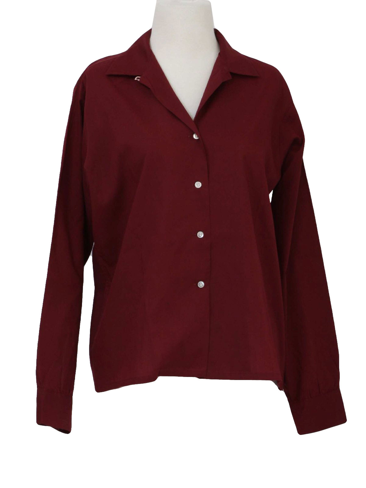 Vintage 1960's Shirt: Early 60s -Jayson Classics- Womens burgundy ...