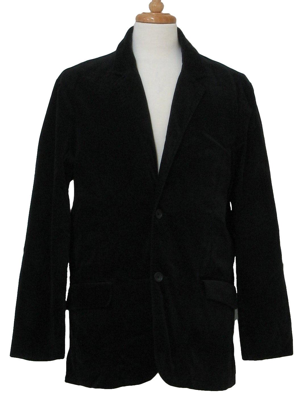 80's Jacket: 80s -no label- Mens black cotton blend velveteen ...