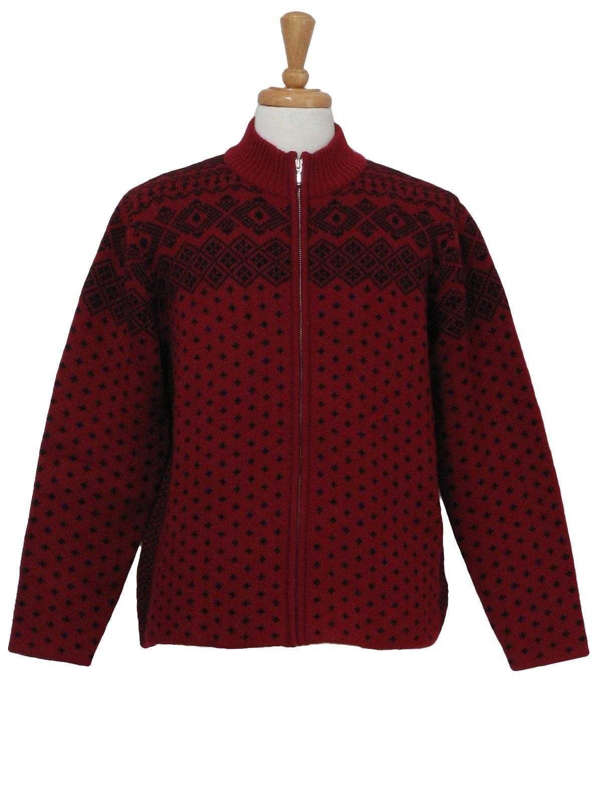 Nineties Vintage Caridgan Sweater 90s Lands End Womens