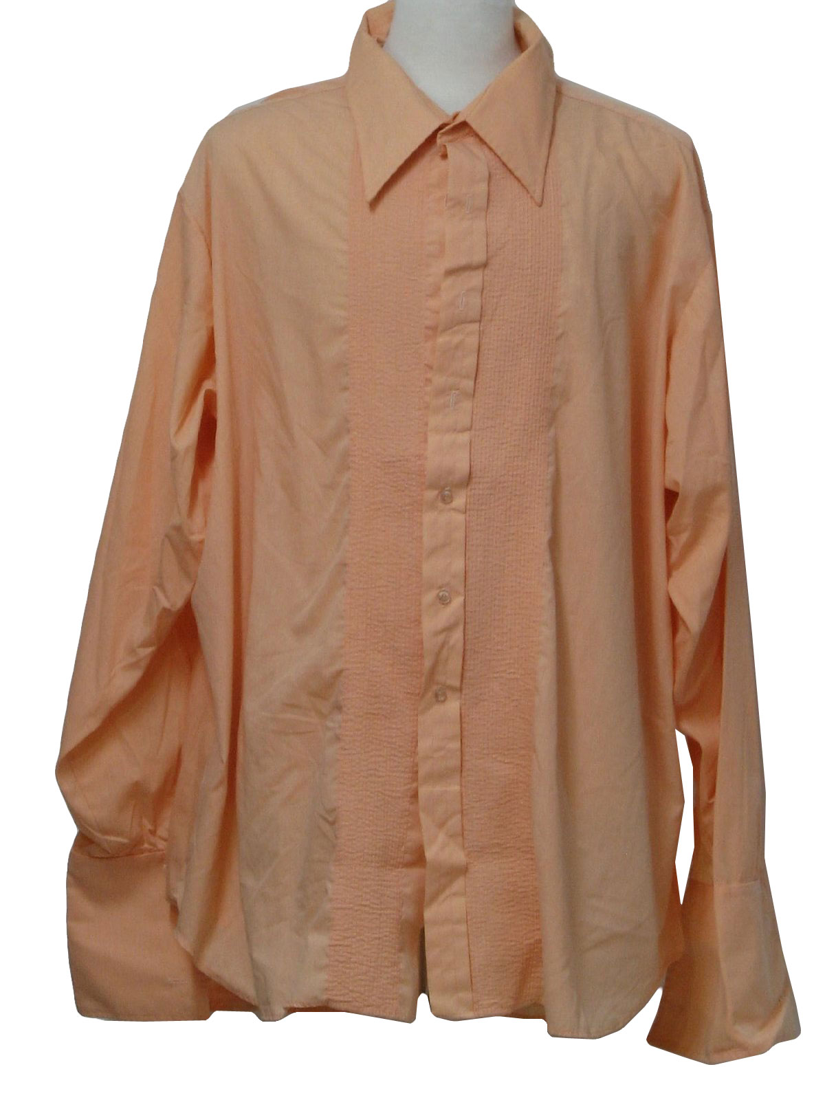 Vintage 1970 39 s shirt 70s l and m fashions mens for Tuxedo shirt no studs