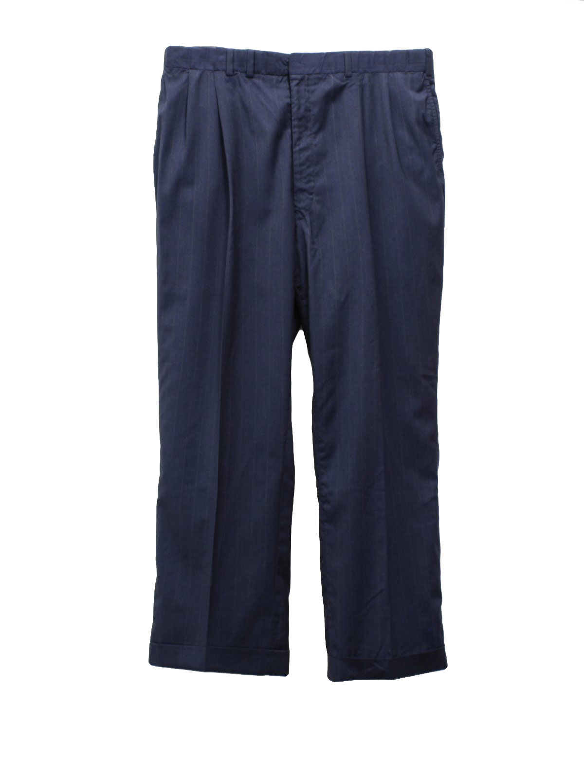 1950 s mens wool slacks pants 50s missing label mens dark blue and ...