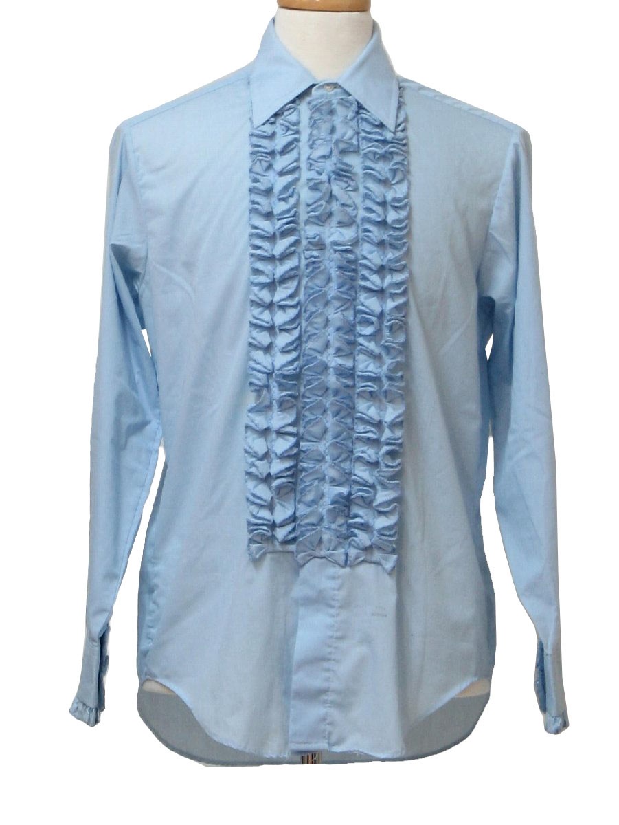Lion of troy 70 39 s vintage shirt 70s lion of troy mens for Powder blue tuxedo shirt