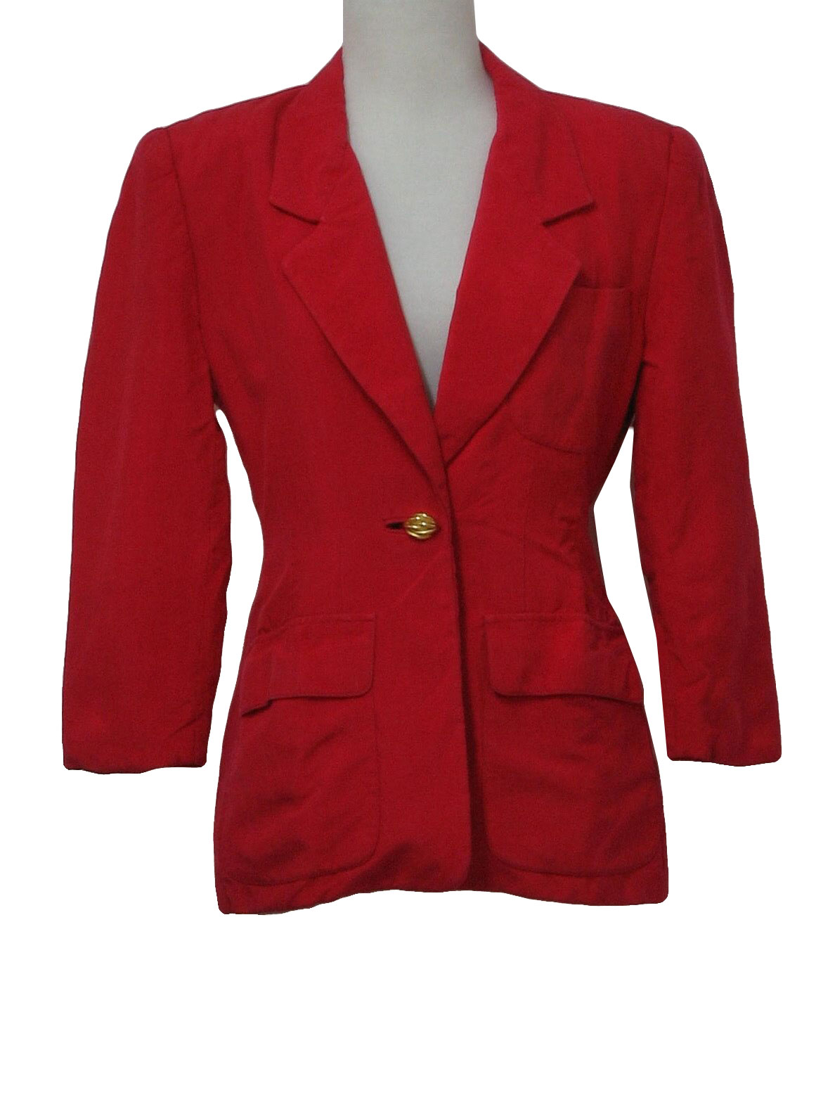 Womens Red Jacket Blazers - Jacket To