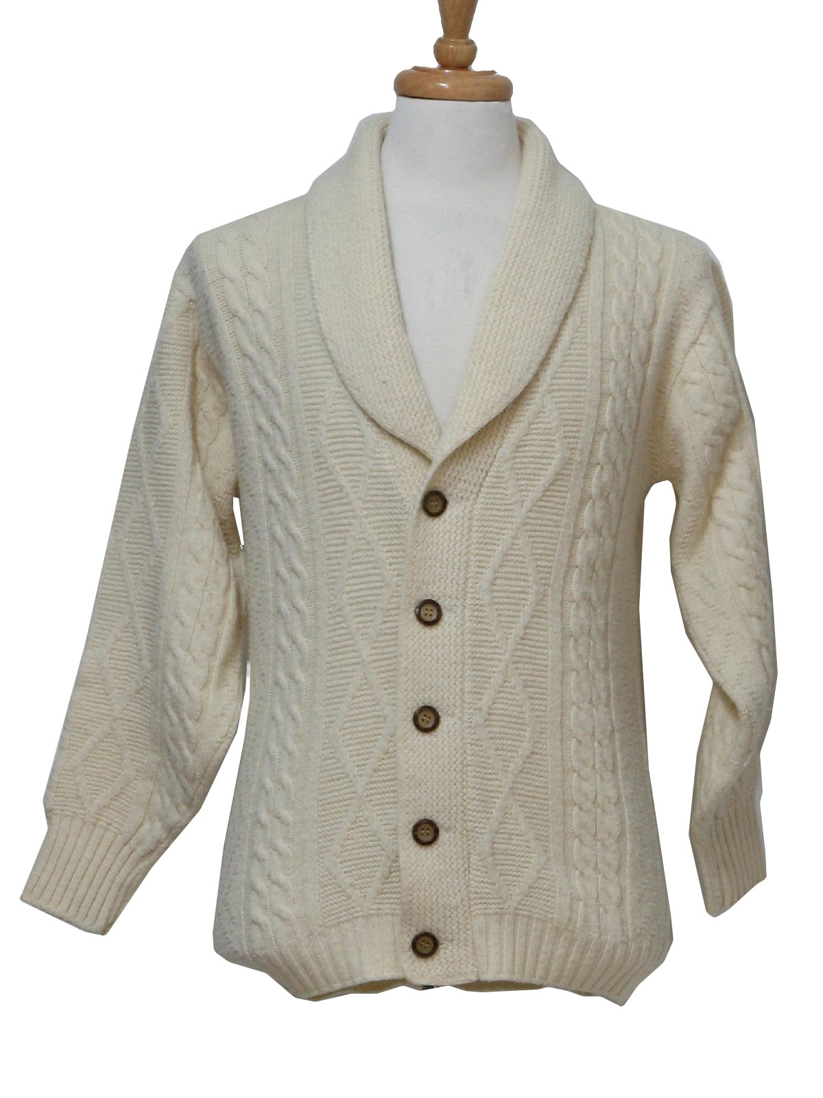 Pebble Beach Seventies Vintage Caridgan Sweater: 70s -Pebble Beach ...
