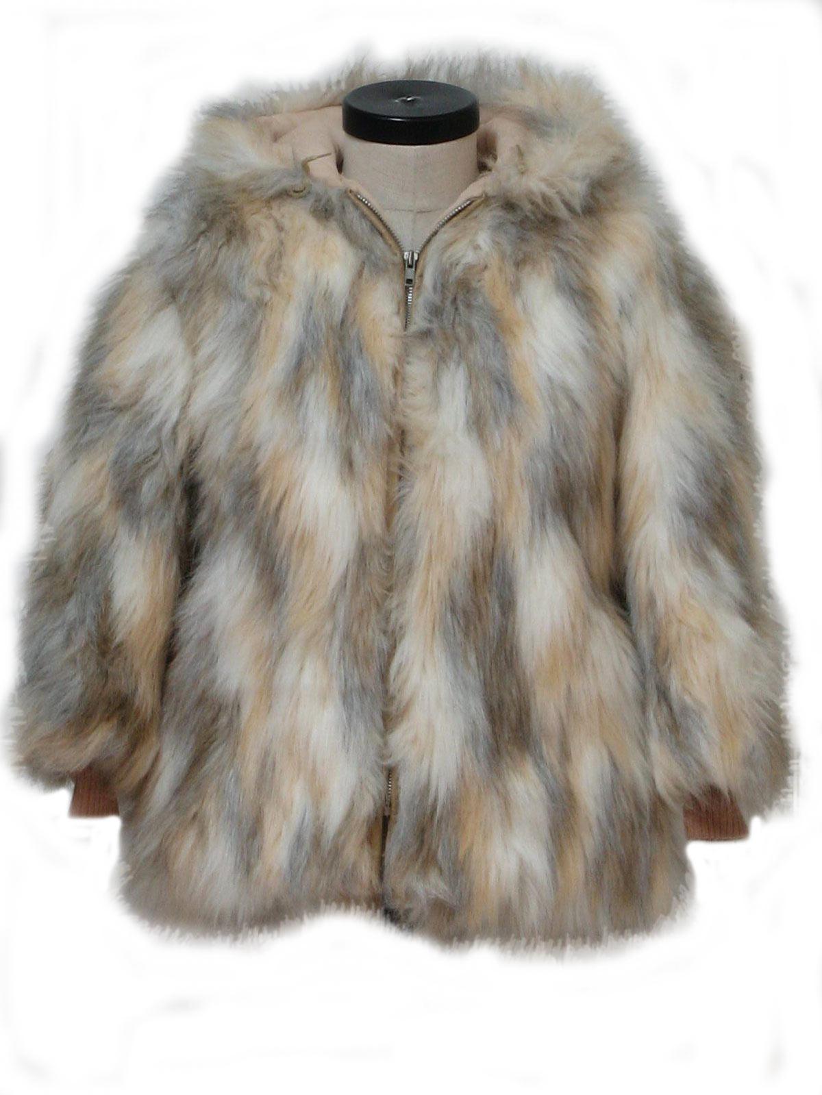 Faux Fur Girls Coat   Down Coat