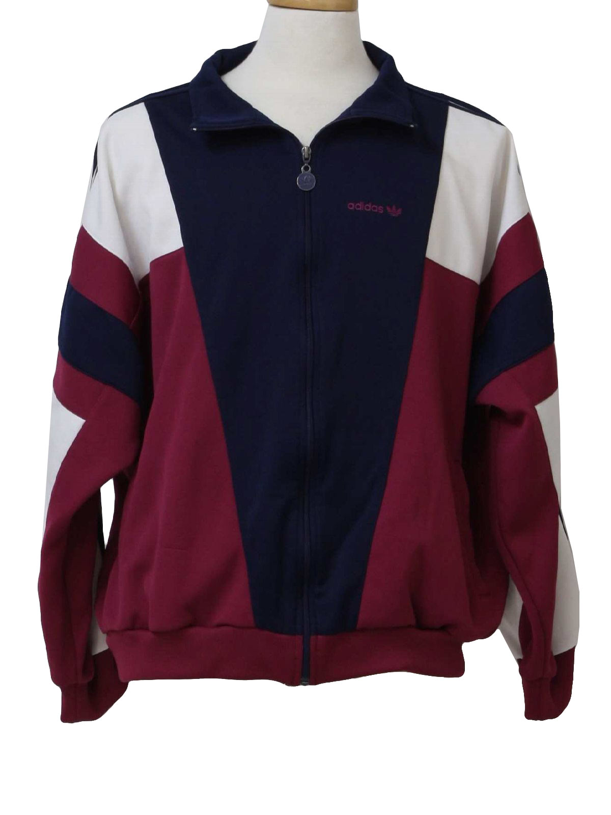 1990s Vintage Jacket 90s Adidas Mens Rosy Wine