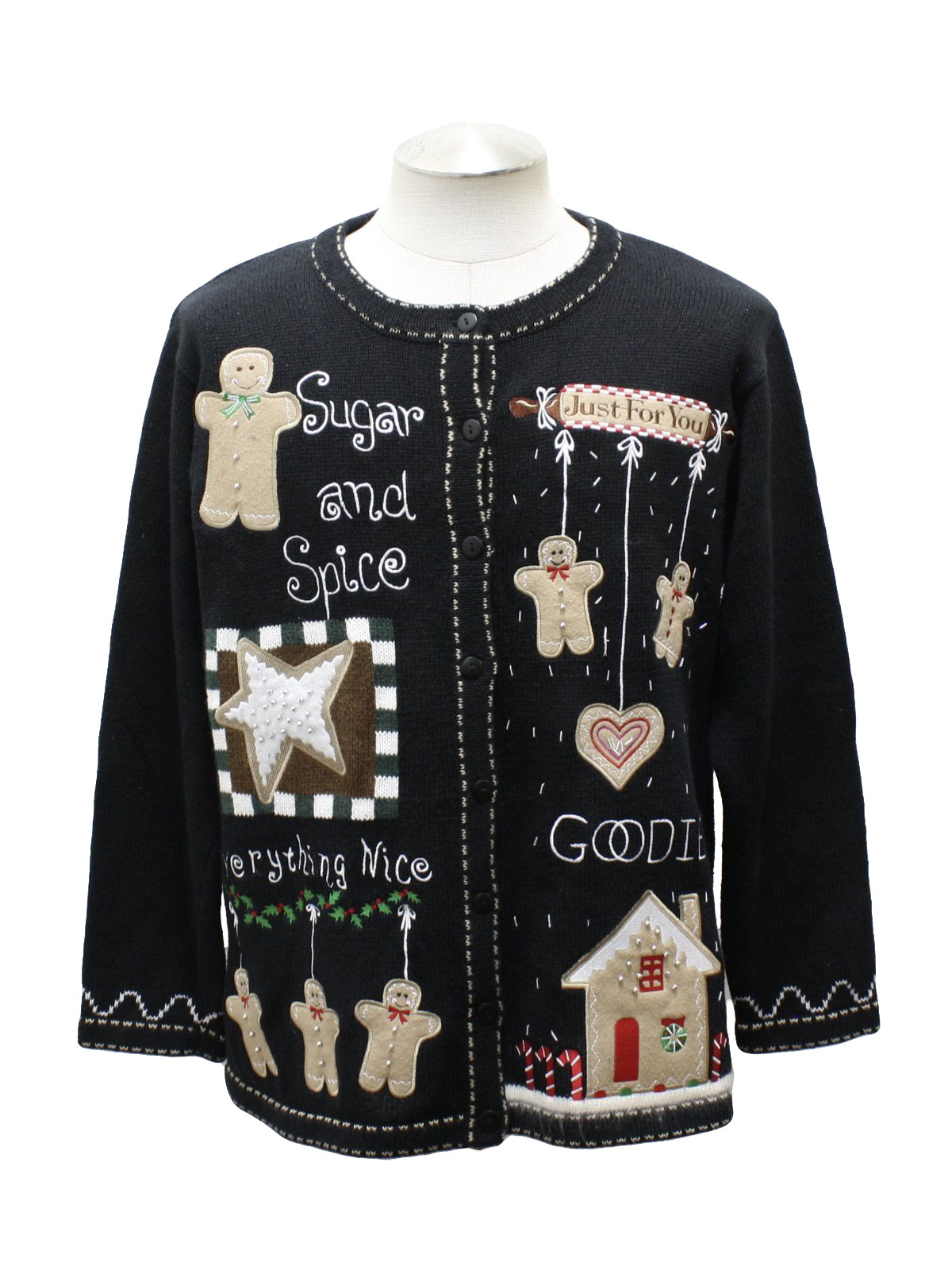 Womens Ugly Christmas Sweater: -The Quacker Factory- Womens back ...
