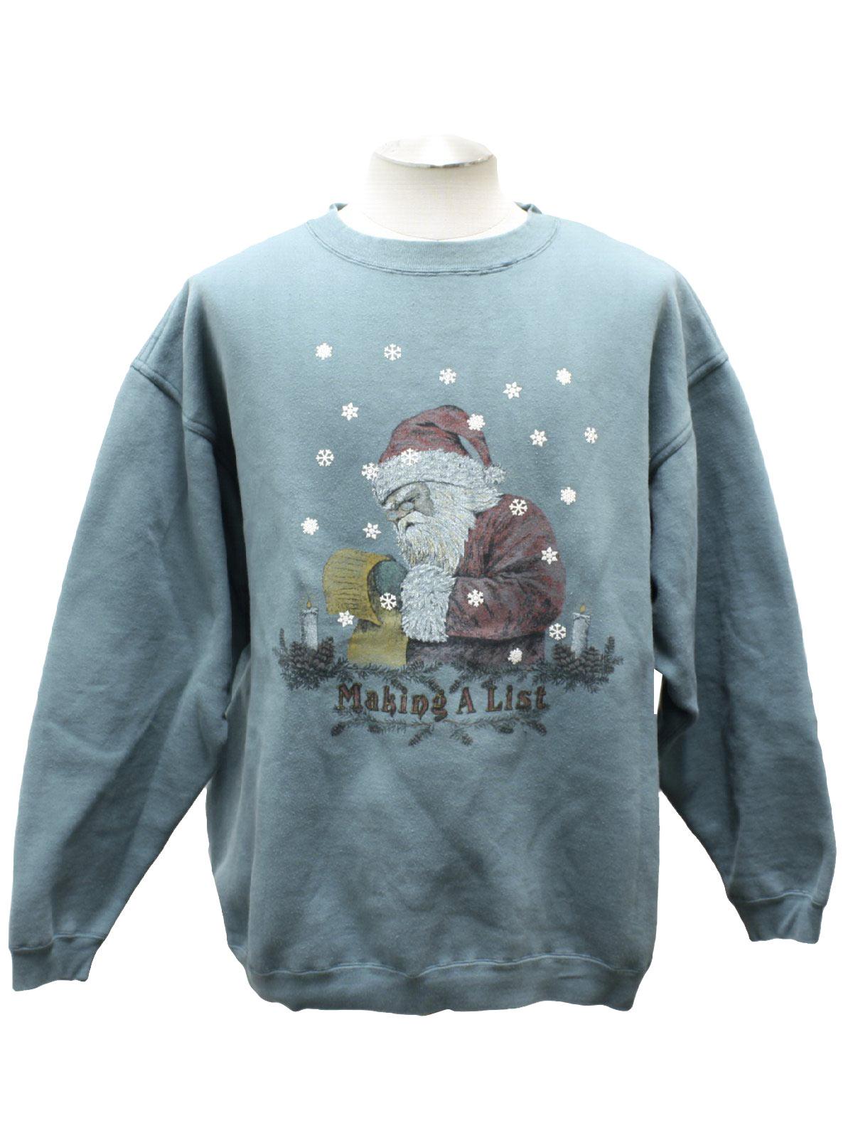 Ugly Christmas Sweatshirt Snowshoe Thompson Unisex