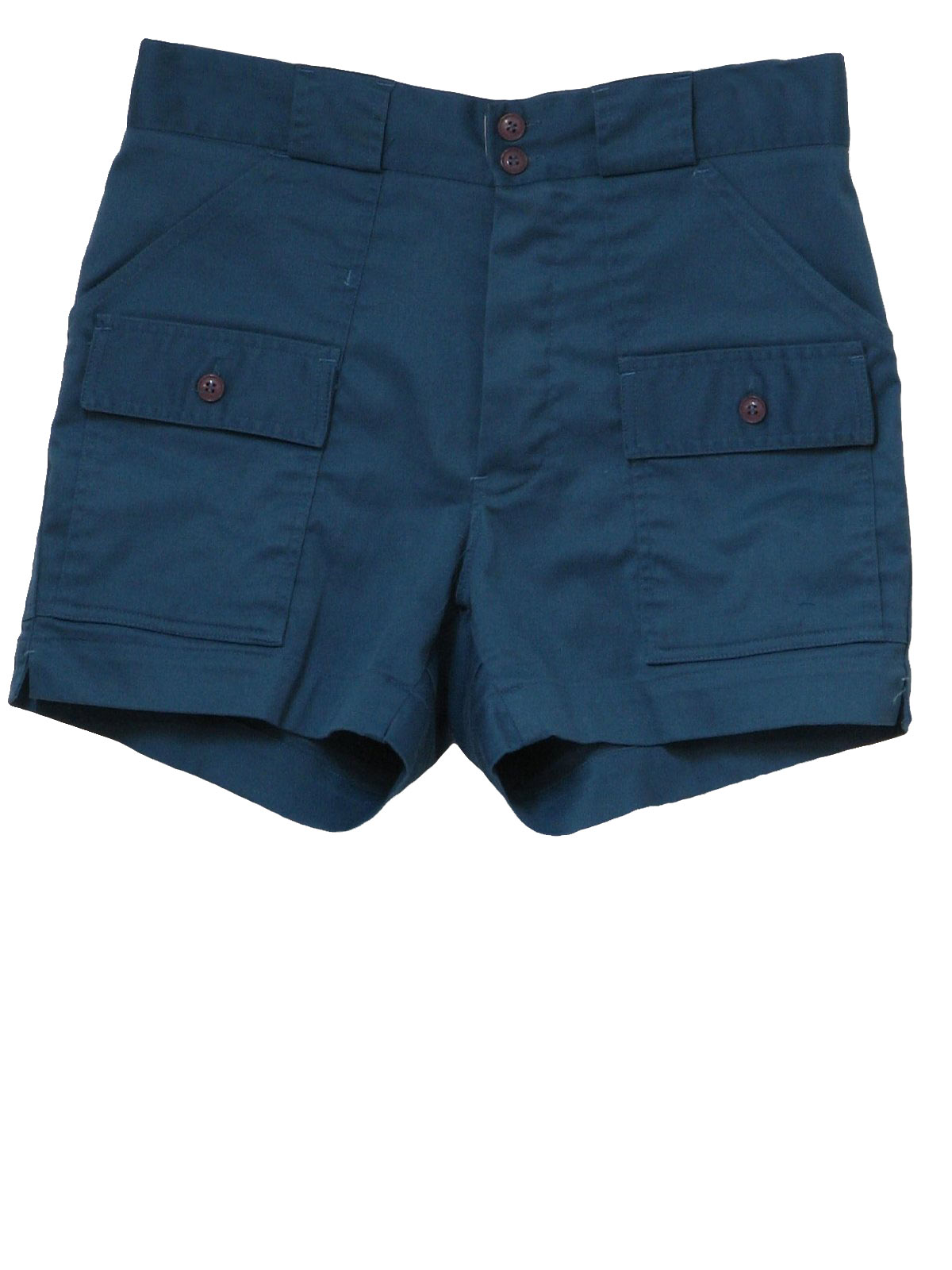 Seventies Vintage Shorts: Late 70s -Sportif USA- Mens dusty blue ...