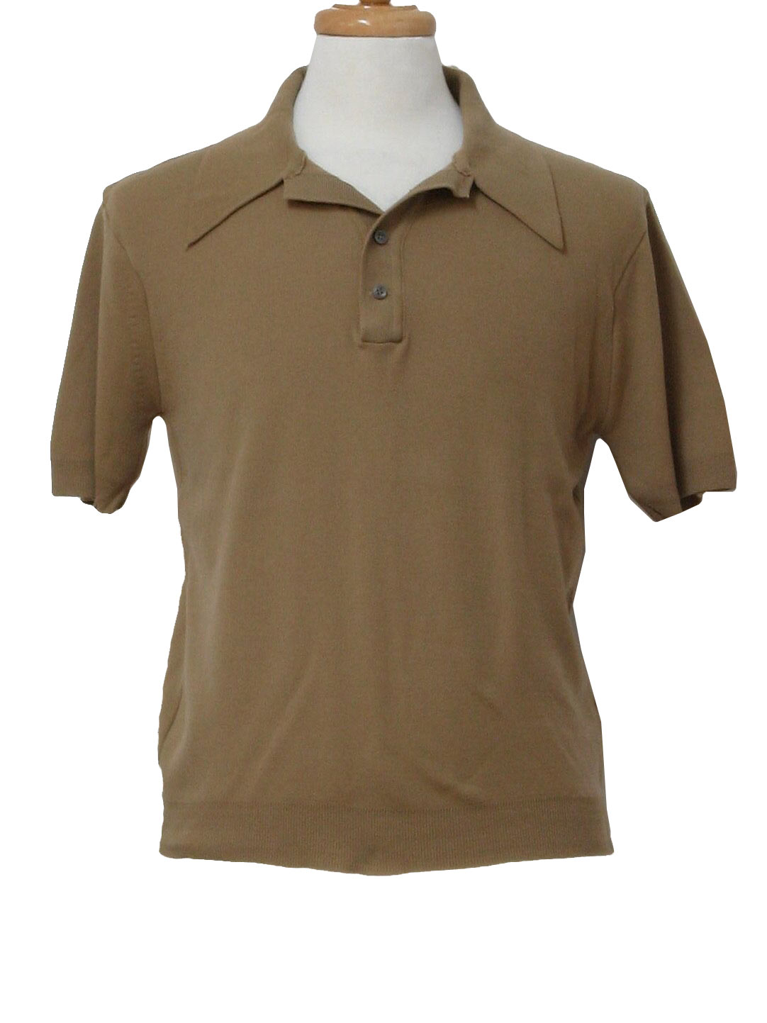 1970 39 s retro shirt 70s kings road sears mens taupe for Sears dress shirts sale