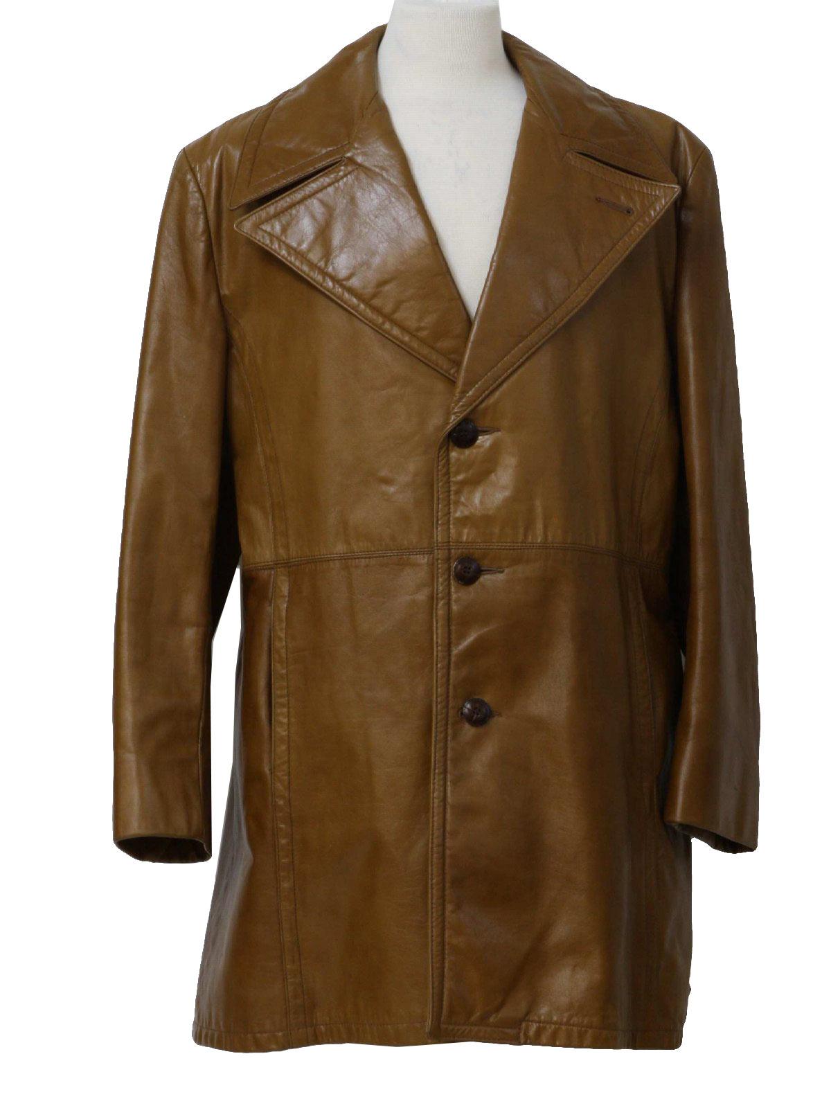 Seventies Lakeland Leather Jacket: 70s -Lakeland- Mens spice brown