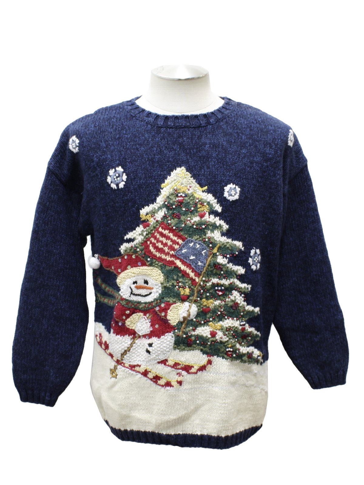 Fashion Bug Unisex Patriotic Santa Ugly Christmas Sweater