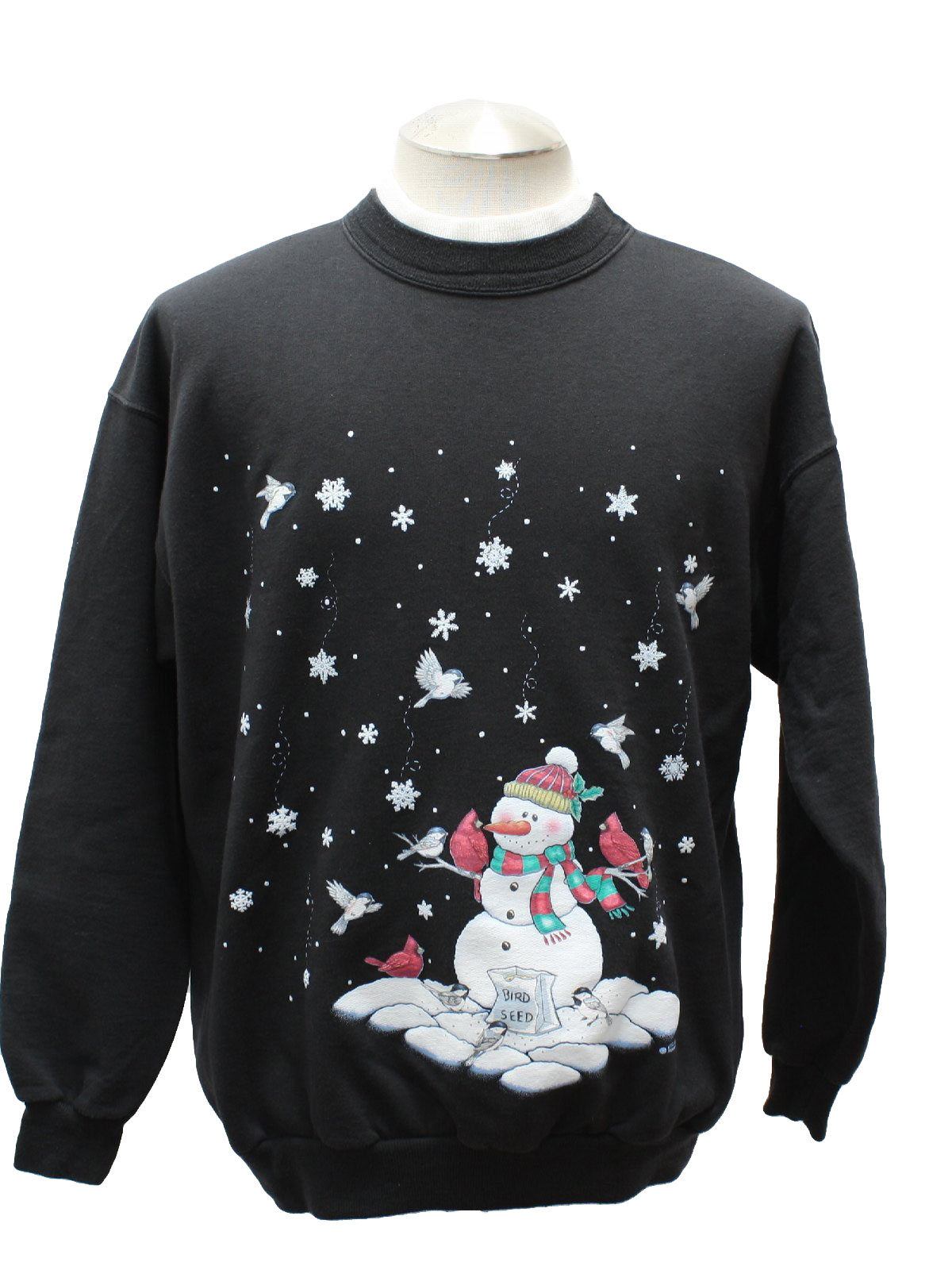 Ugly Christmas Sweatshirt Morning Sun Unisex Black