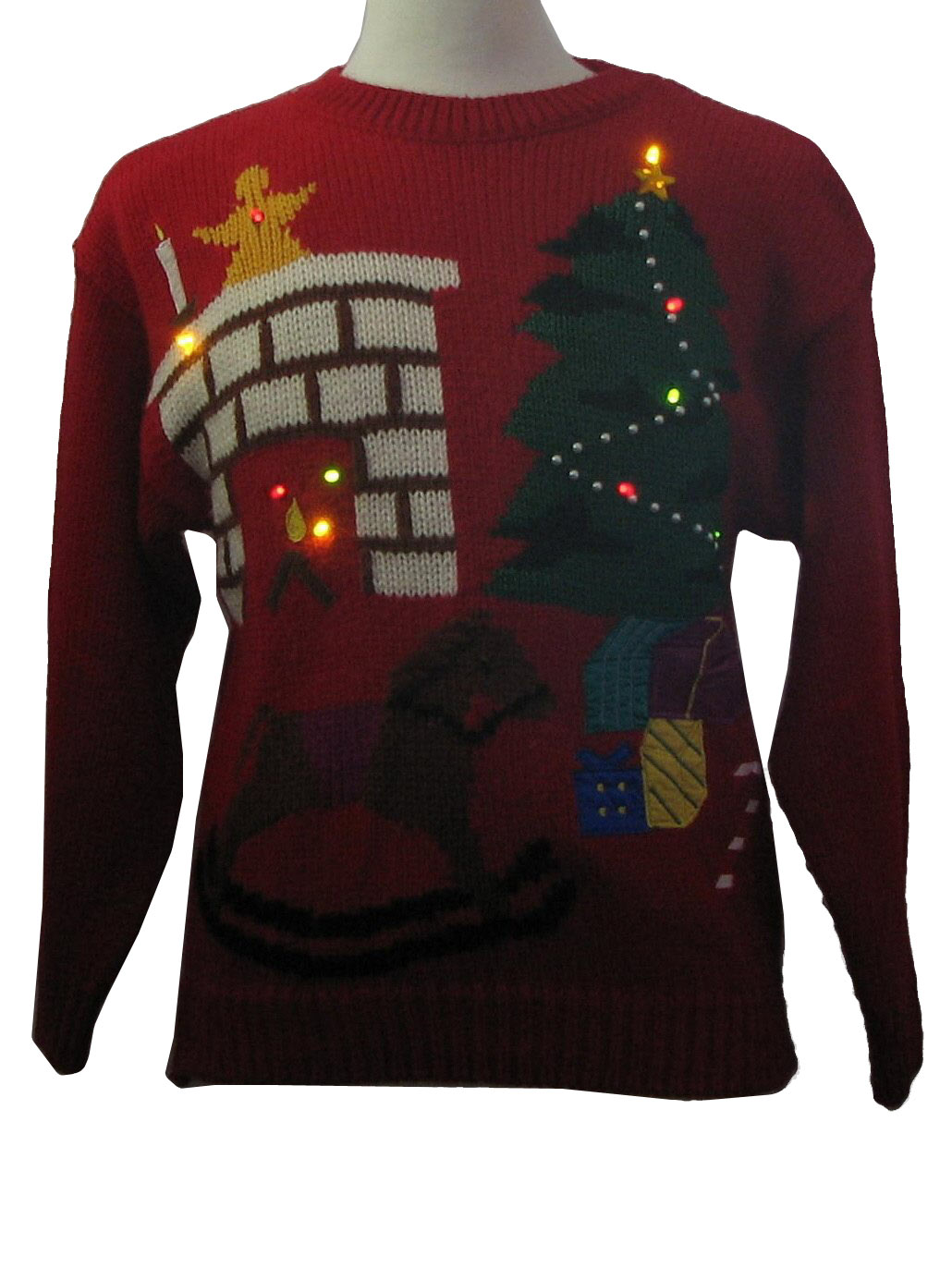 80 39 S Vintage Ugly Christmas Sweater With Added Multi