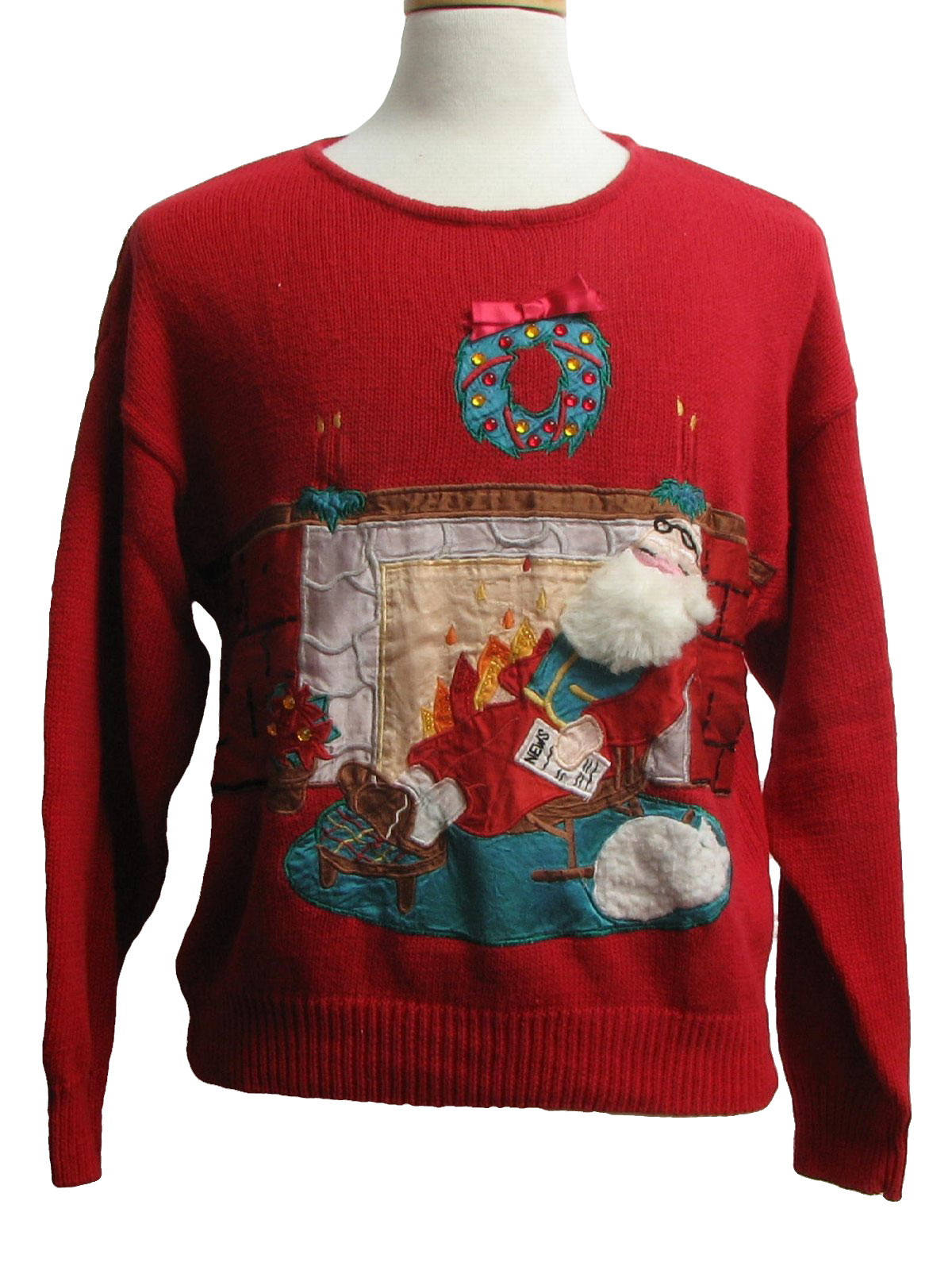 Ugly Christmas Sweater Work In Progress Unisex Red