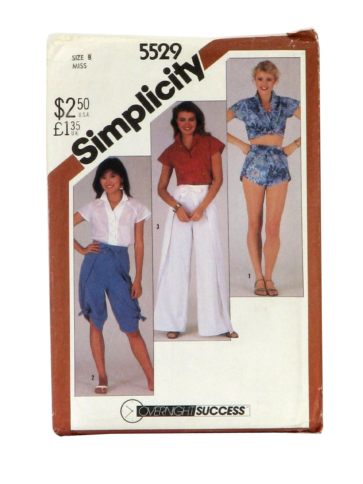 outlet for sale perfect quality online store 1980's Simplicity Pattern No. 5529 Womens Pattern