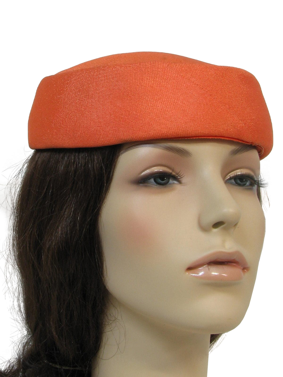 1950 s hat late 50s to early 60s no label womens orange