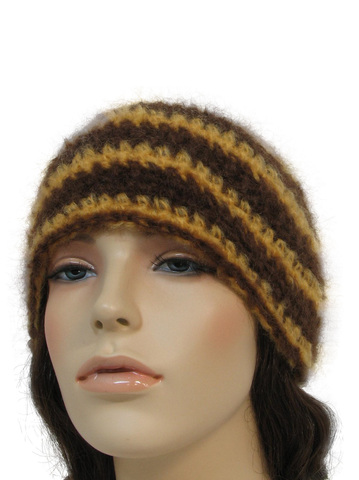 Vintage Hand Crocheted Seventies Hat 70s Style Made Recently