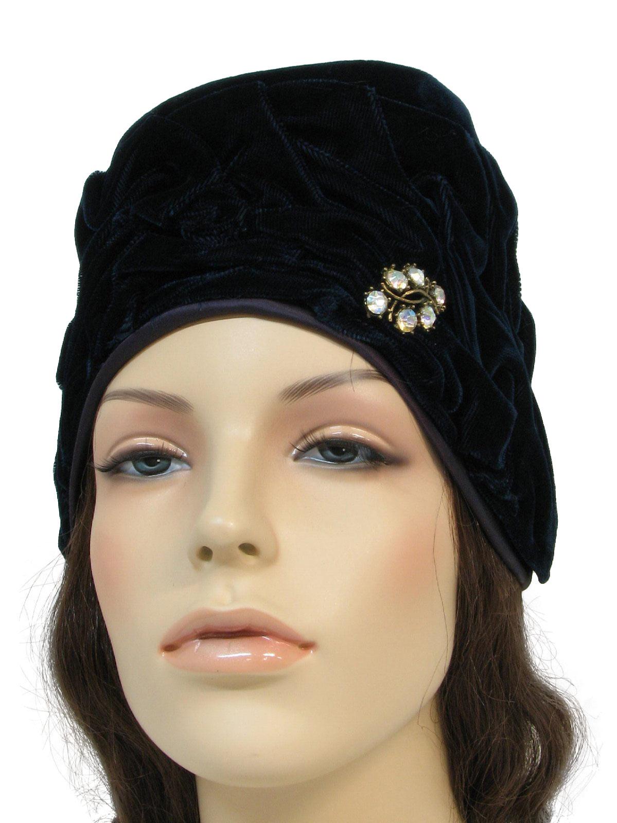 1950s union label hat 50s union label womens navy blue