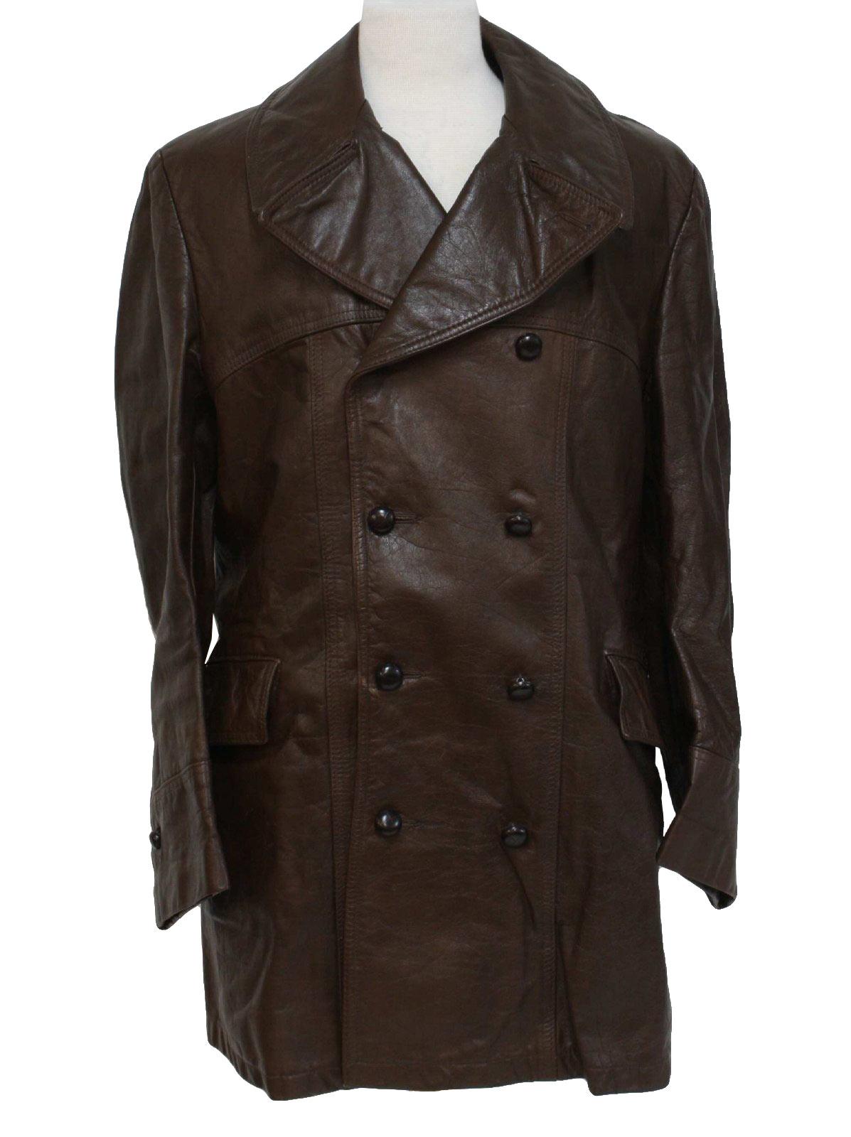 Retro 1970&39s Leather Jacket (Genuine Leather) : 70s -Genuine