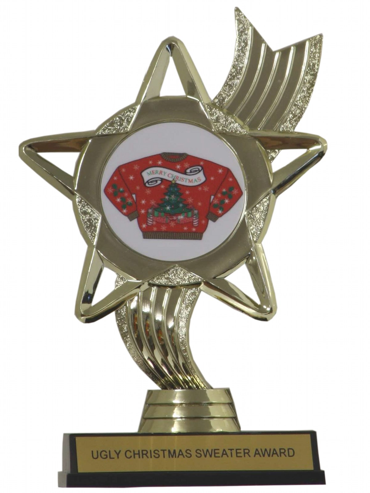 UGLY CHRISTMAS SWEATER AWARD TROPHY Unisex Ugly Christmas Sweater Trophy Award $12.95 Not in stock. Item No. 200781