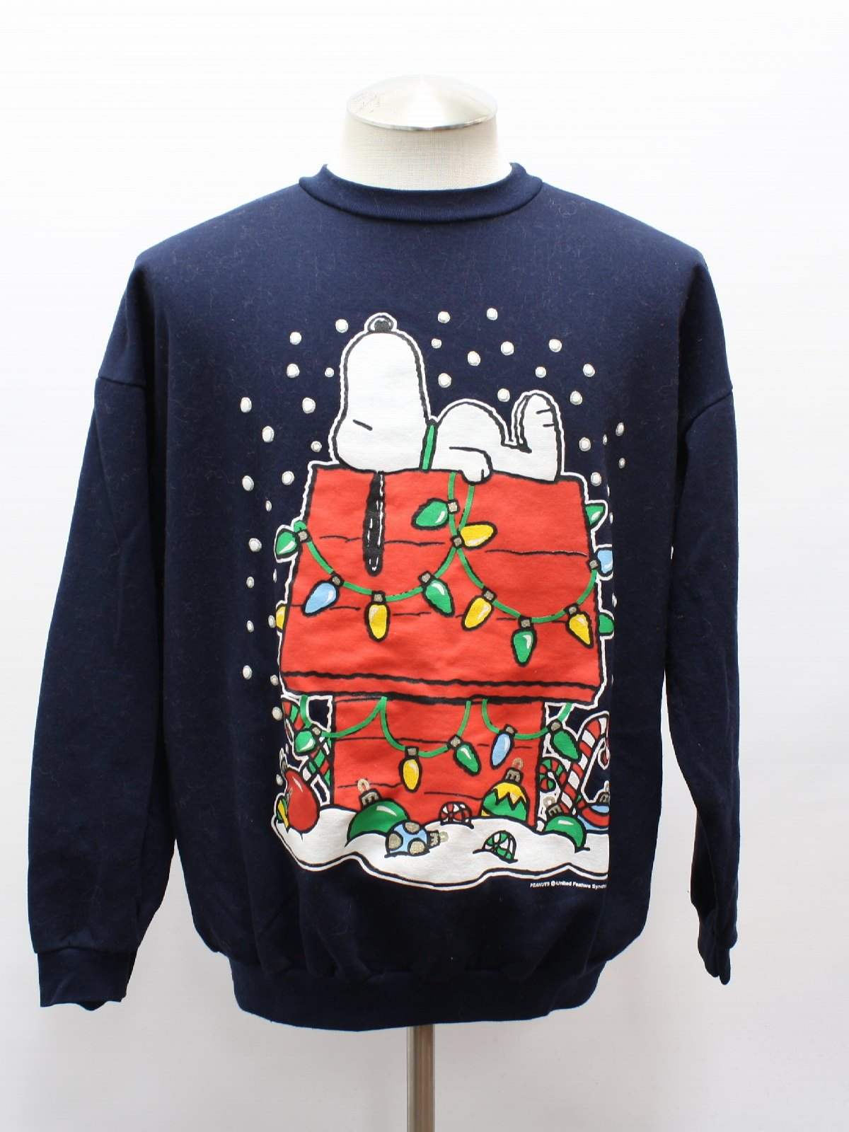 Eighties Vintage Snoopy Ugly Christmas Sweatshirt 80s