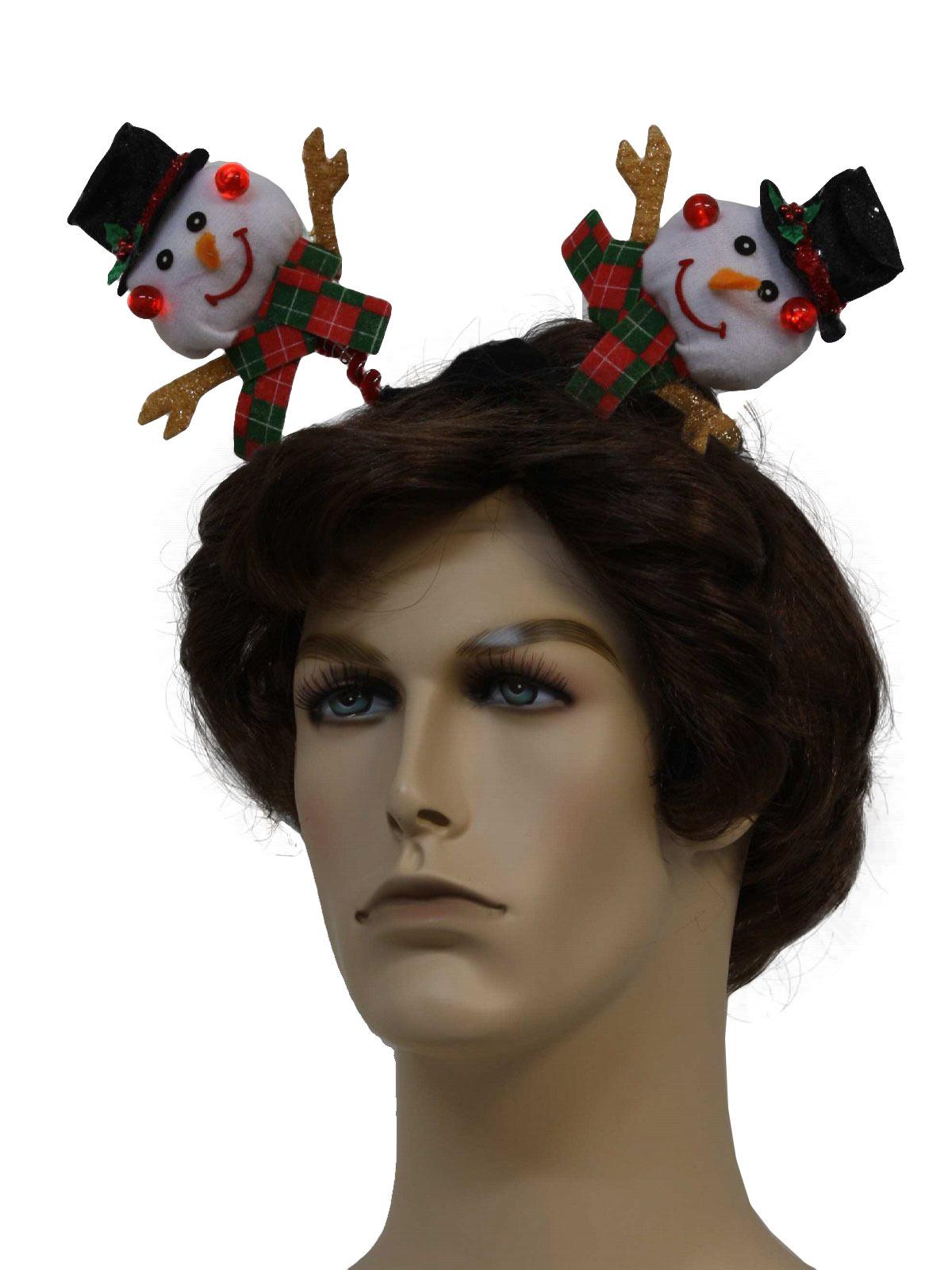Lightup Snowman Headband Unisex Accessories - Hat / Snowman Light-Up ...