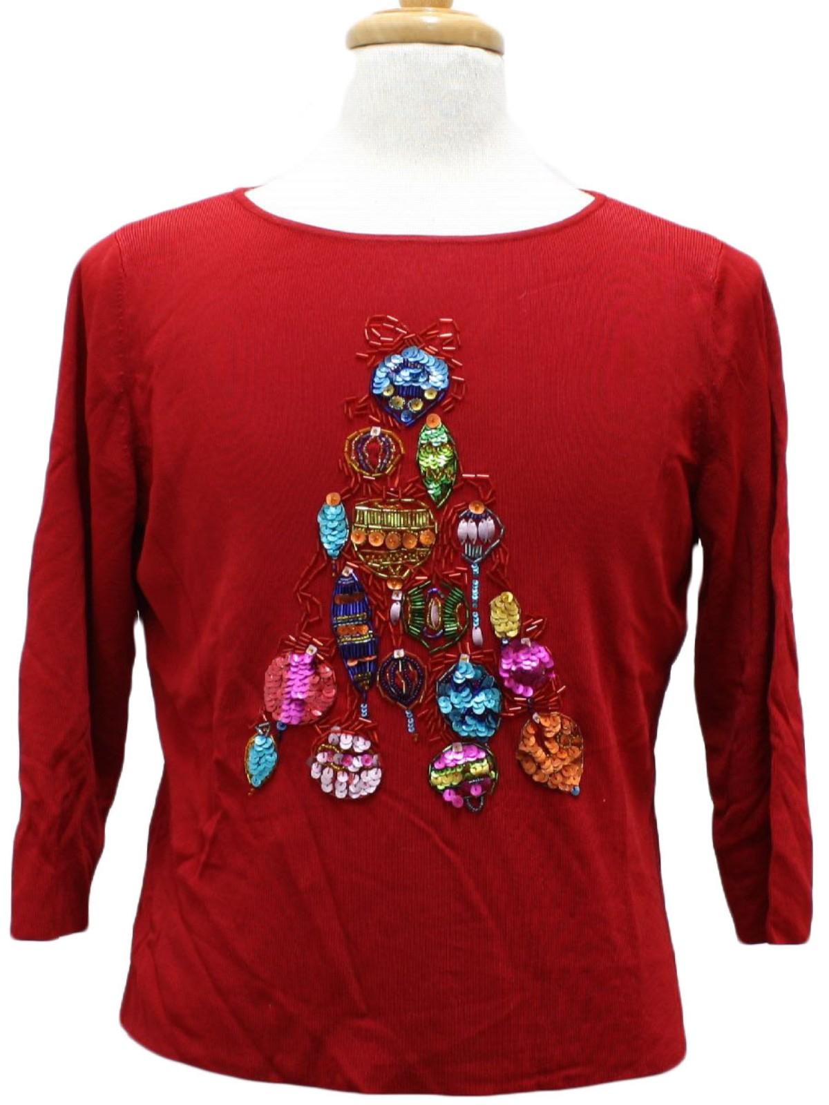 Womens Ugly Christmas Sweater Shirt Lucia Burns Womens