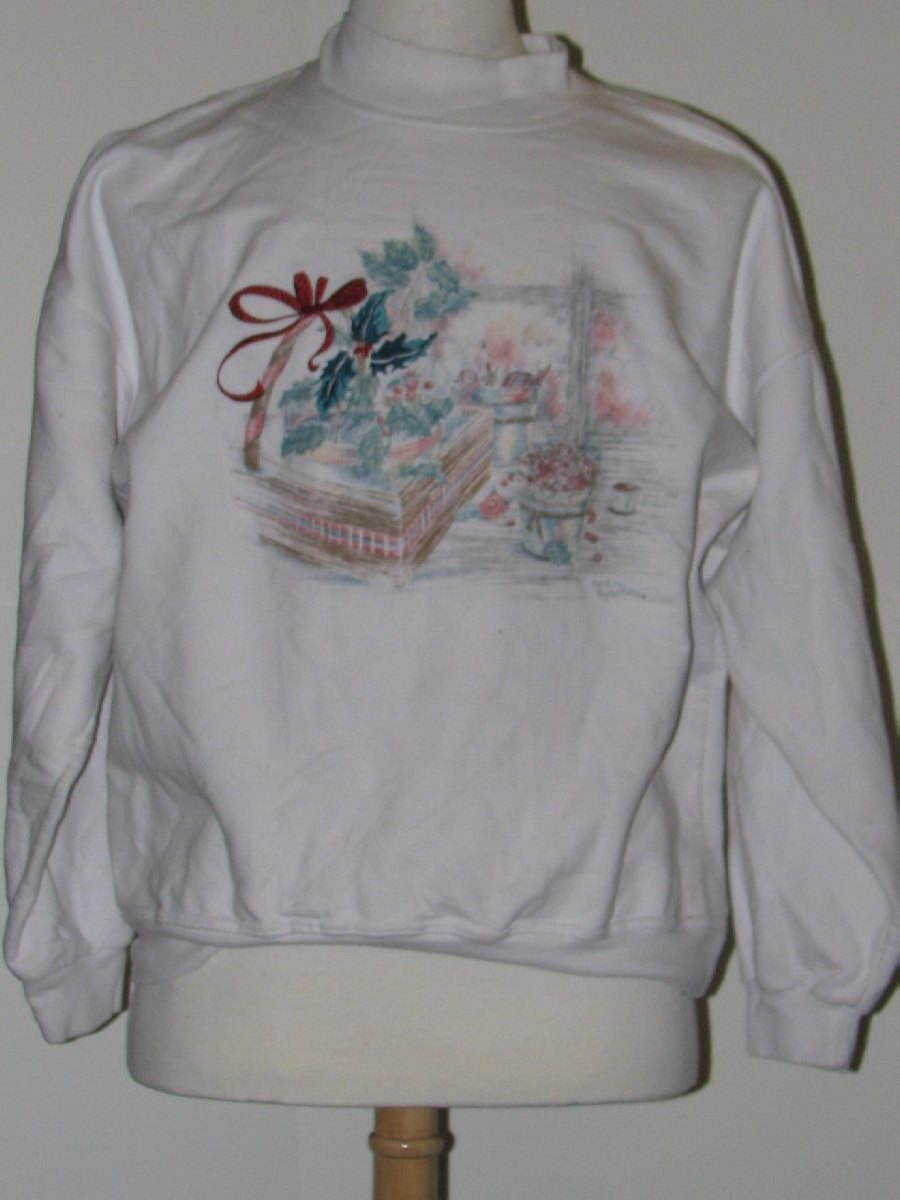 Mens White Sweaters