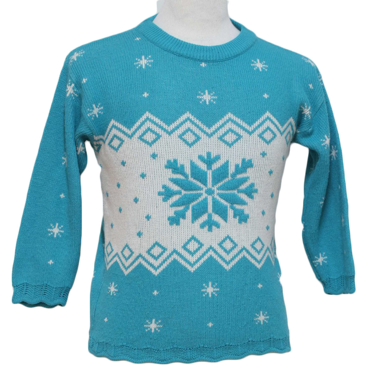 Womens/Girls Ugly Christmas Sweater: -N Kids- Girls light blue ...