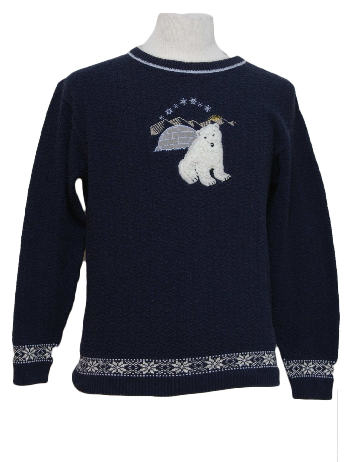 4bb4774f6 Ugly Christmas Sweater  -Northern Reflections- Unisex midnight blue ...