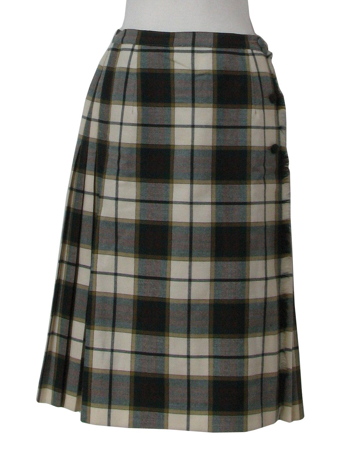 vintage 80s wool skirt 80s aljean womens blended wool