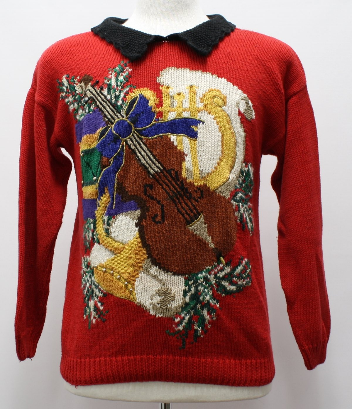 Womens Ugly Christmas Sweater: 80s Style -Talbots- Womens red ...