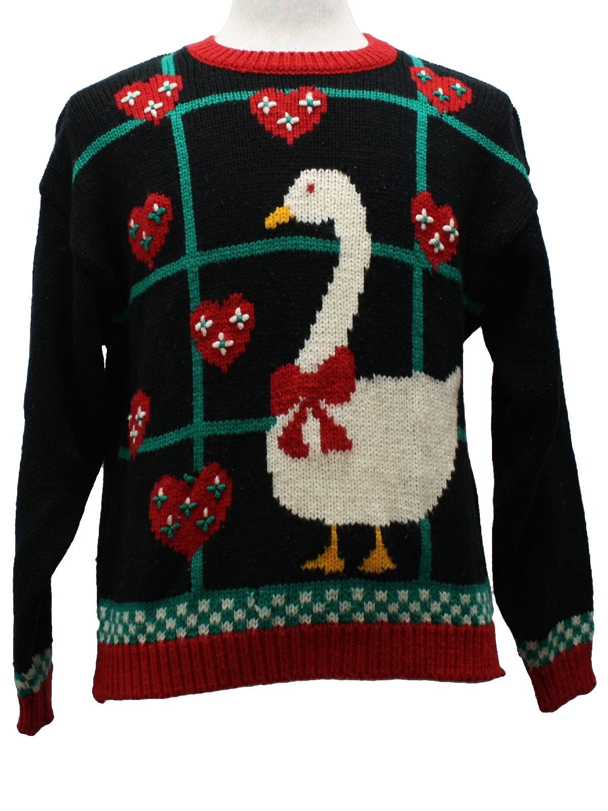 1980s Robinsons Ugly Christmas Goose Sweater 80s