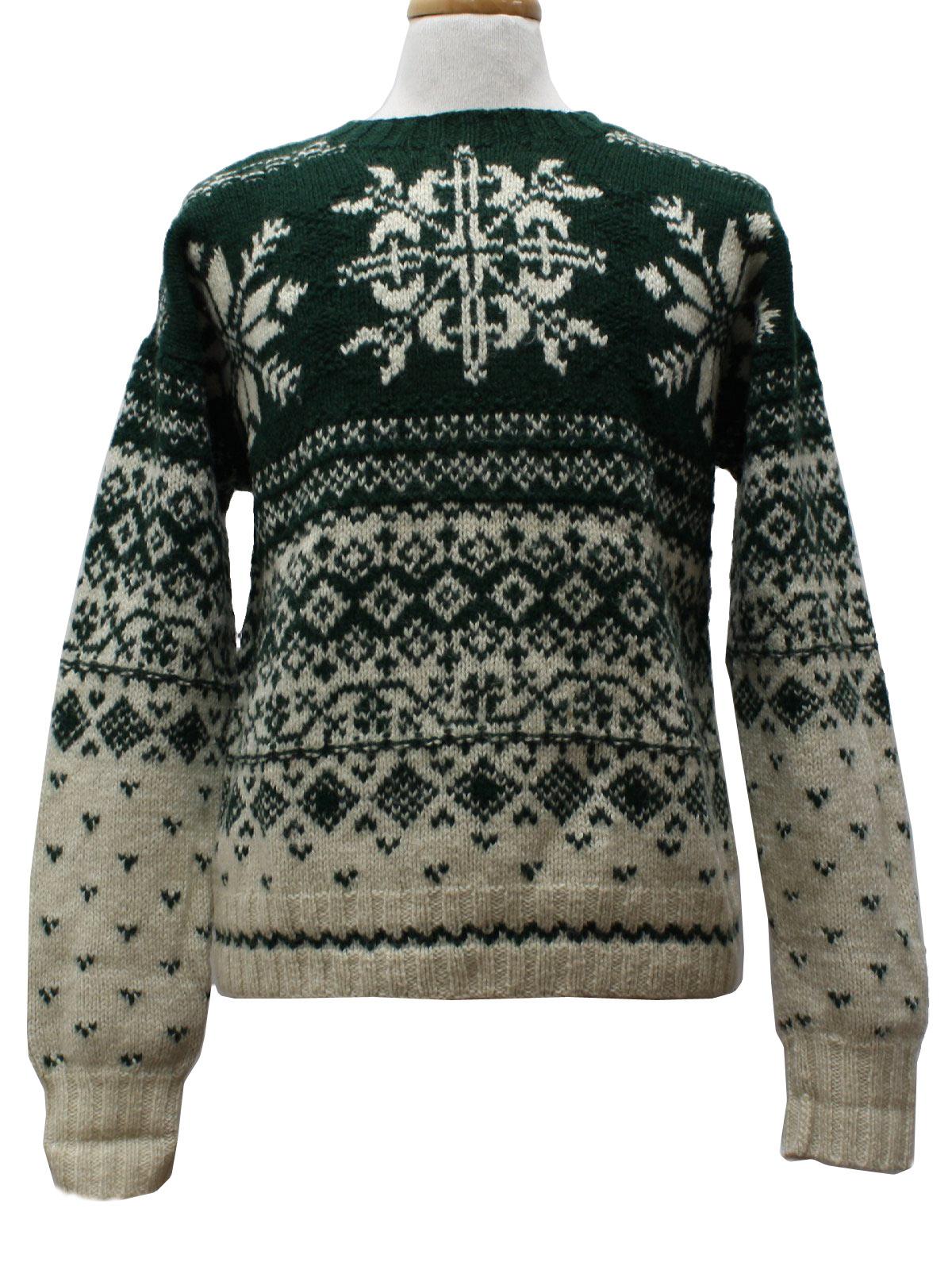 Christmas Ski Sweater Gap Unisex Dark Green Background