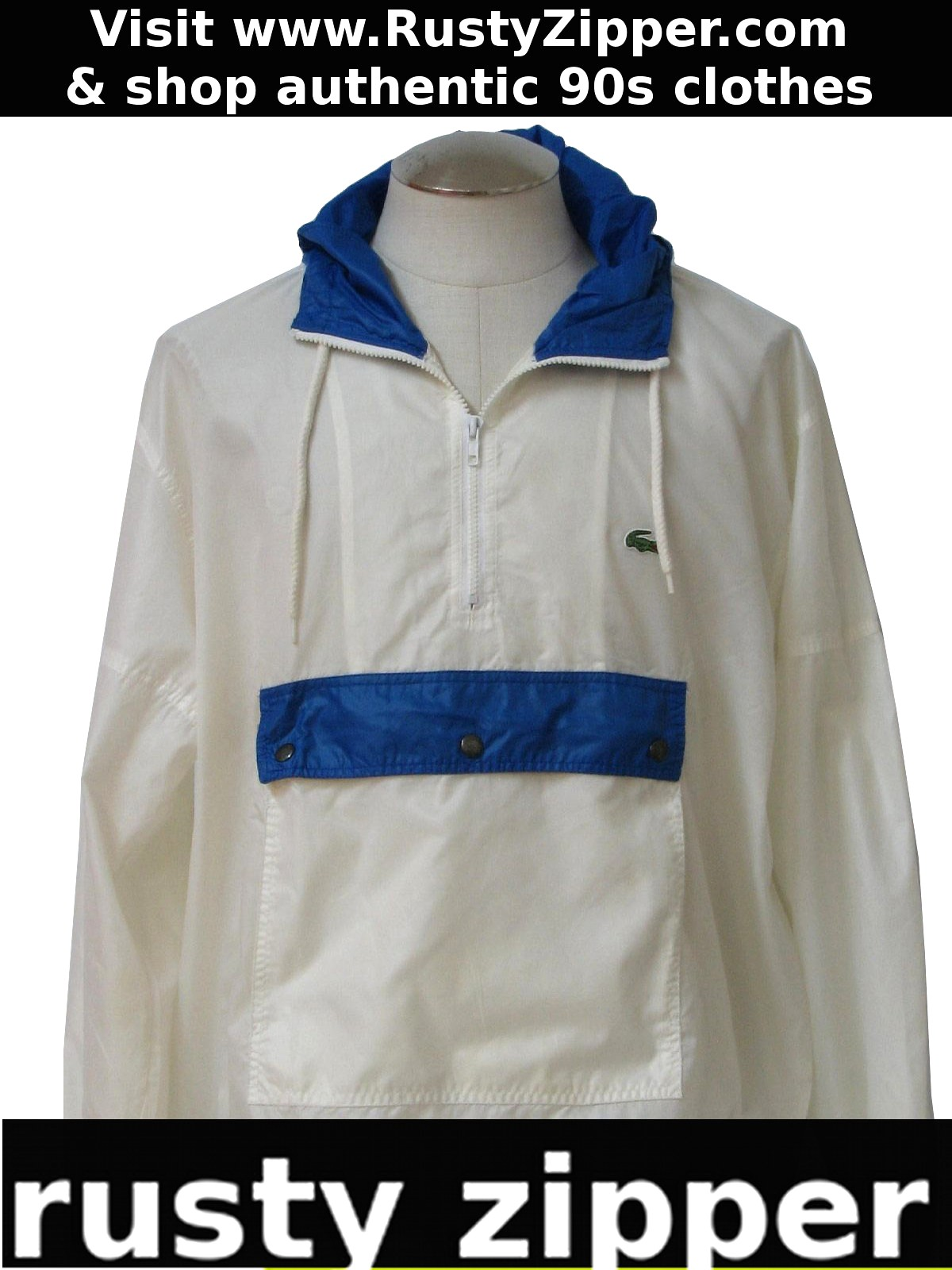 c21f48b76d7f88 Nineties lacoste jacket lacoste mens white and royal blue jpg 1200x1600 Lacoste  windbreaker jackets for men