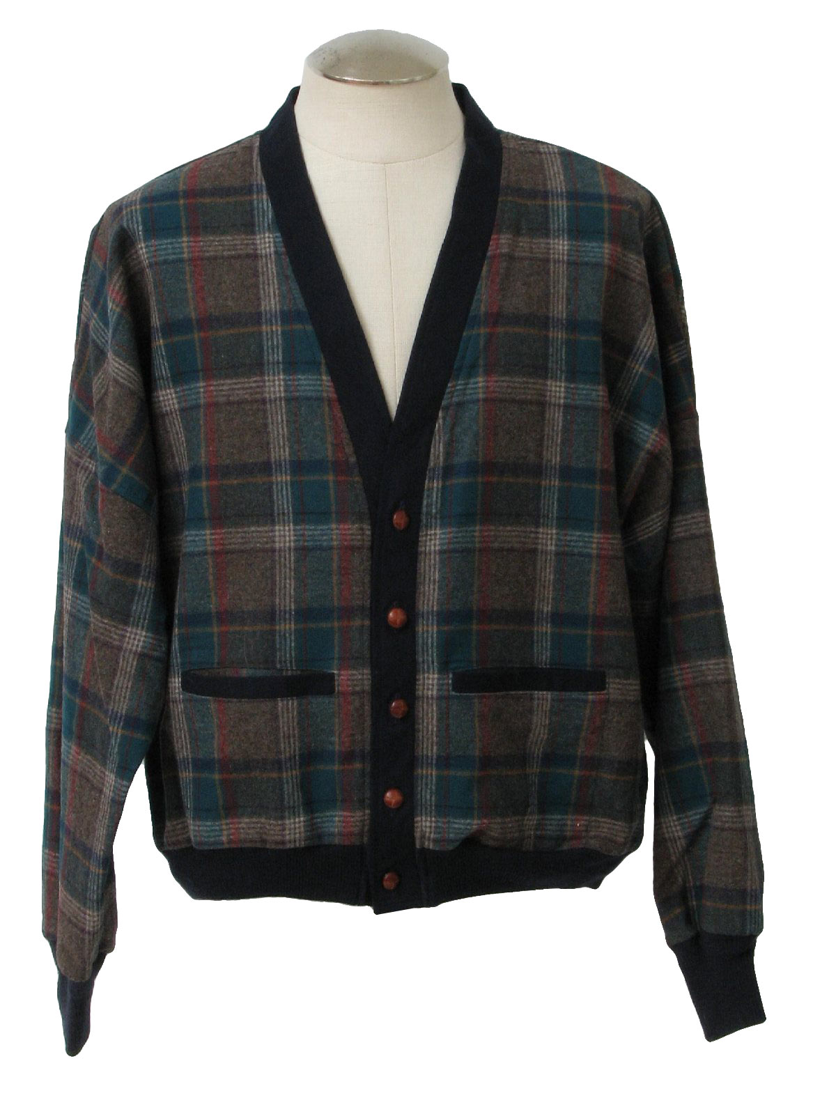 1960's Caridgan Sweater (Pendleton): 60s style (made in 80s ...