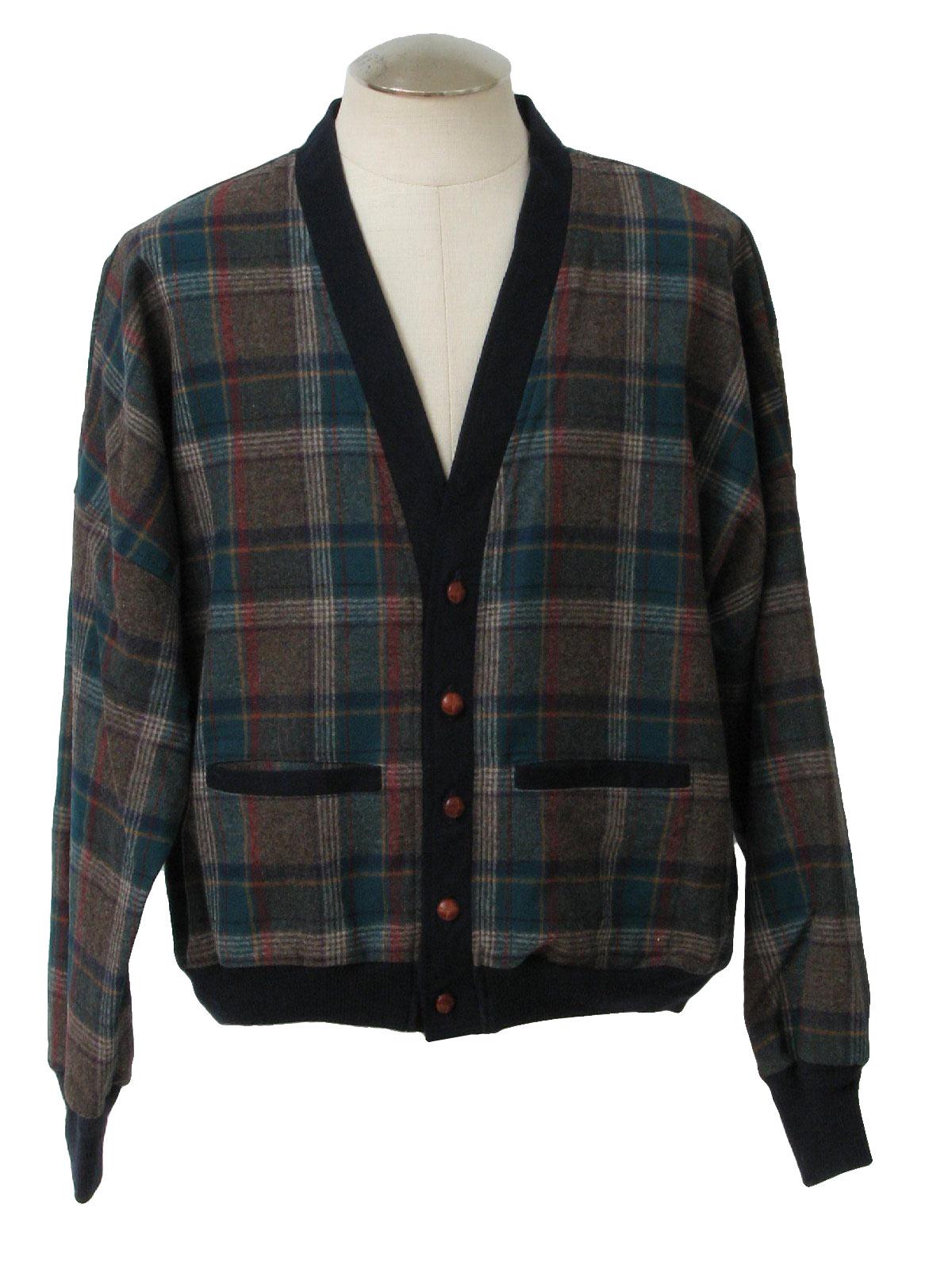 1960's Pendleton Mens Pendleton Wool Cardigan Sweater