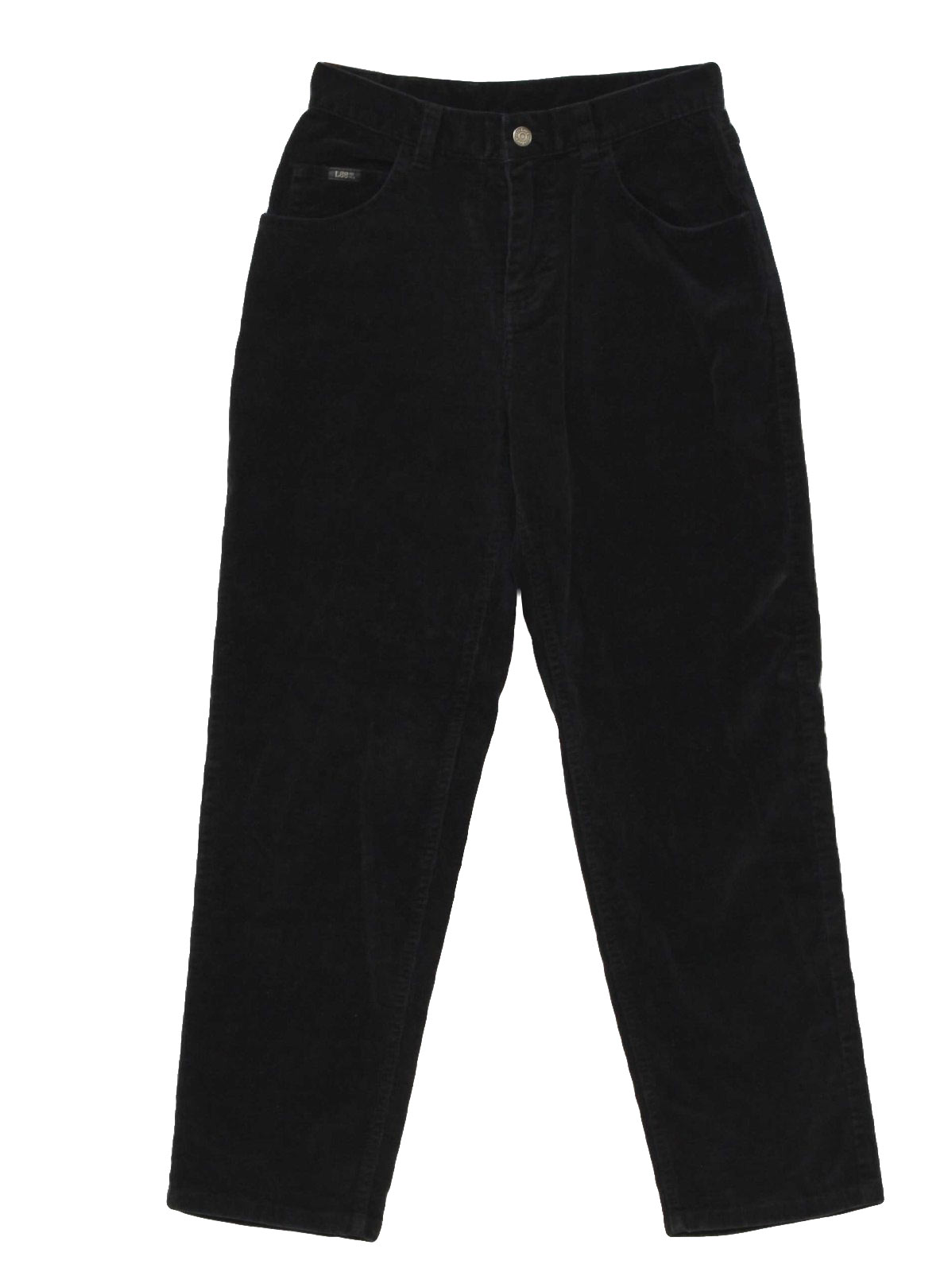 90's Lee Pants: 90s -Lee- Womens black cotton polyester corduroy ...