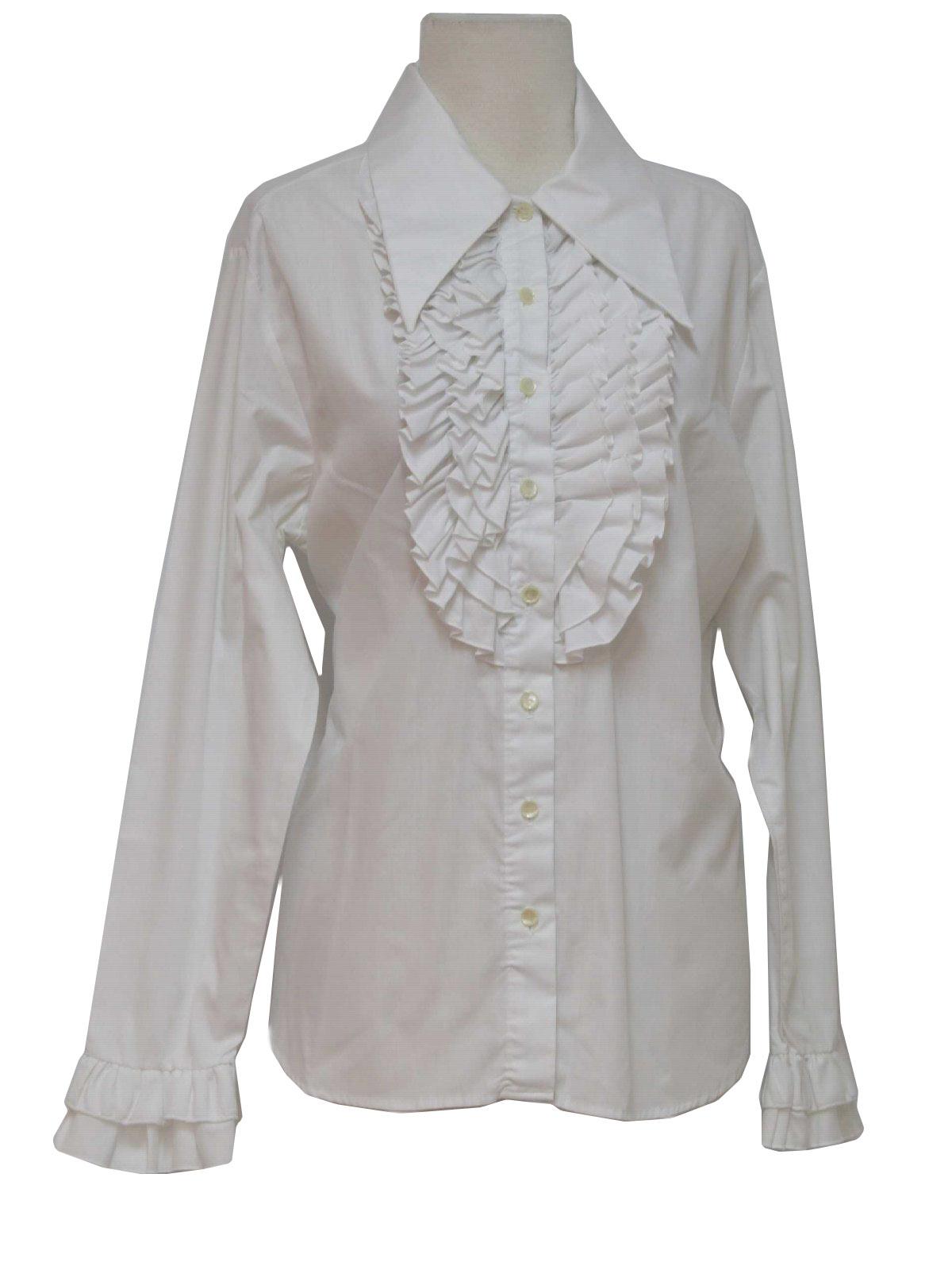 White Tuxedo Blouse 99