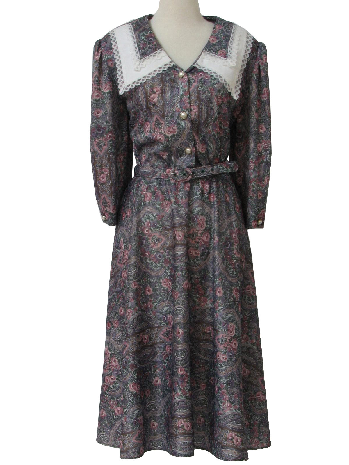Retro Eighties Dress 80s Whirlaway Frocks Womens Silky