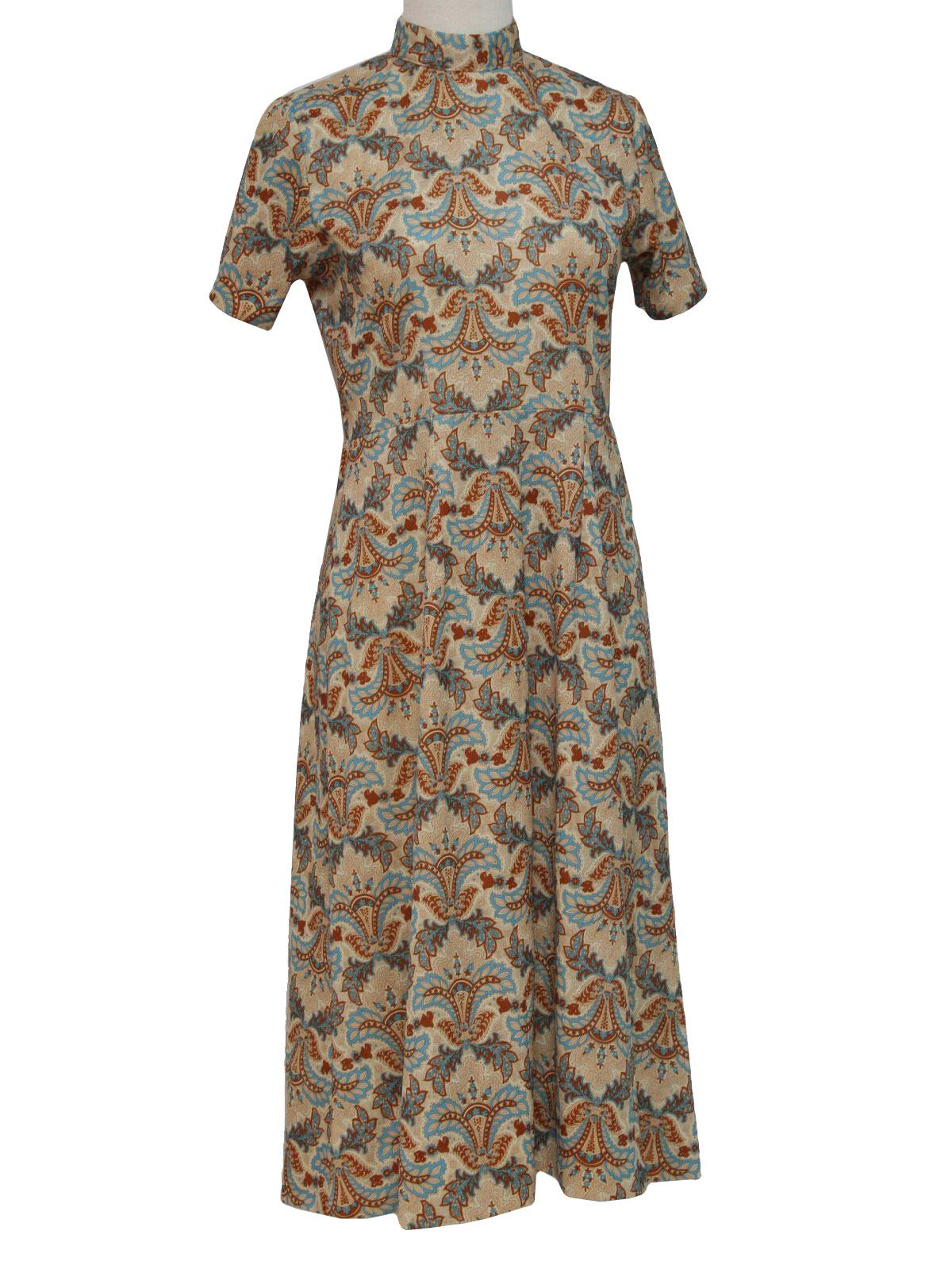 1970s Formal Dress 1970s mod maxi.