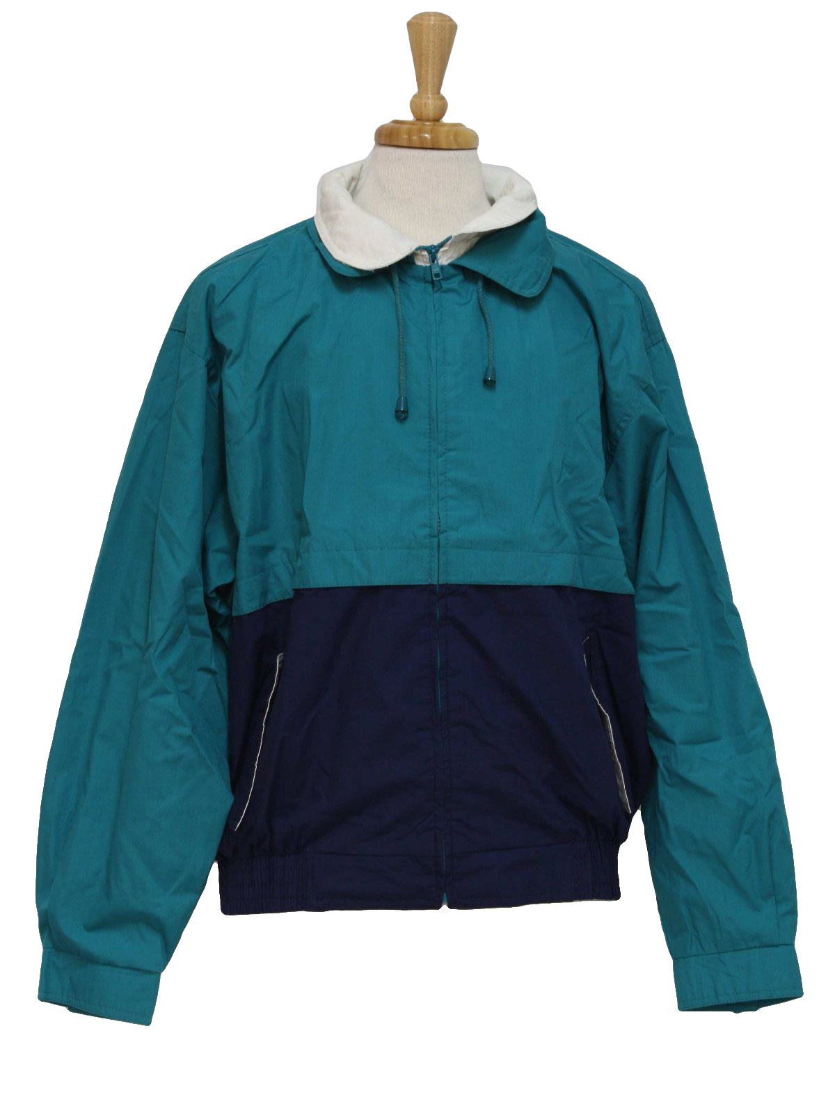 1980s Vintage Jacket 80s 30 Knots Mens Teal And Navy