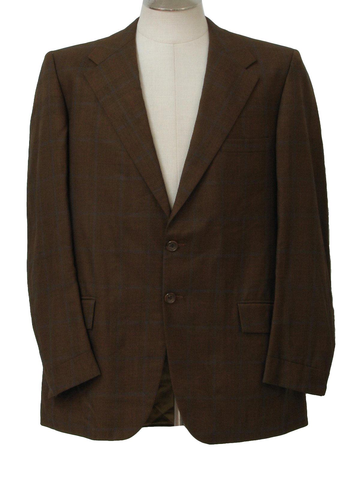 Vintage 70s Jacket: 70s -Louis Roth- Mens brown, rust and grey