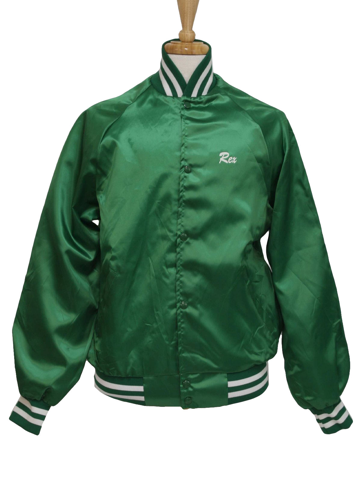 90s Jacket (Westark): 90s -Westark- Mens emerald green and white ...